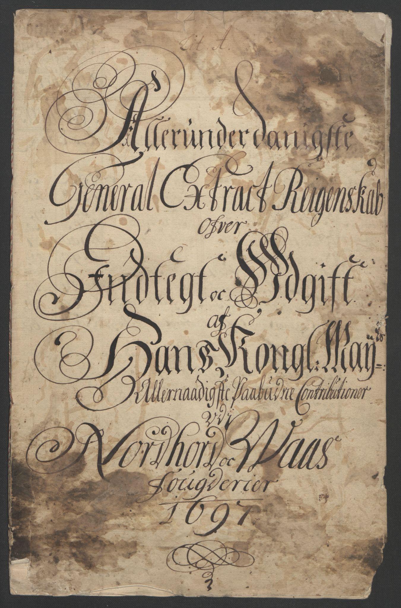 RA, Rentekammeret inntil 1814, Reviderte regnskaper, Fogderegnskap, R51/L3183: Fogderegnskap Nordhordland og Voss, 1695-1697, s. 303