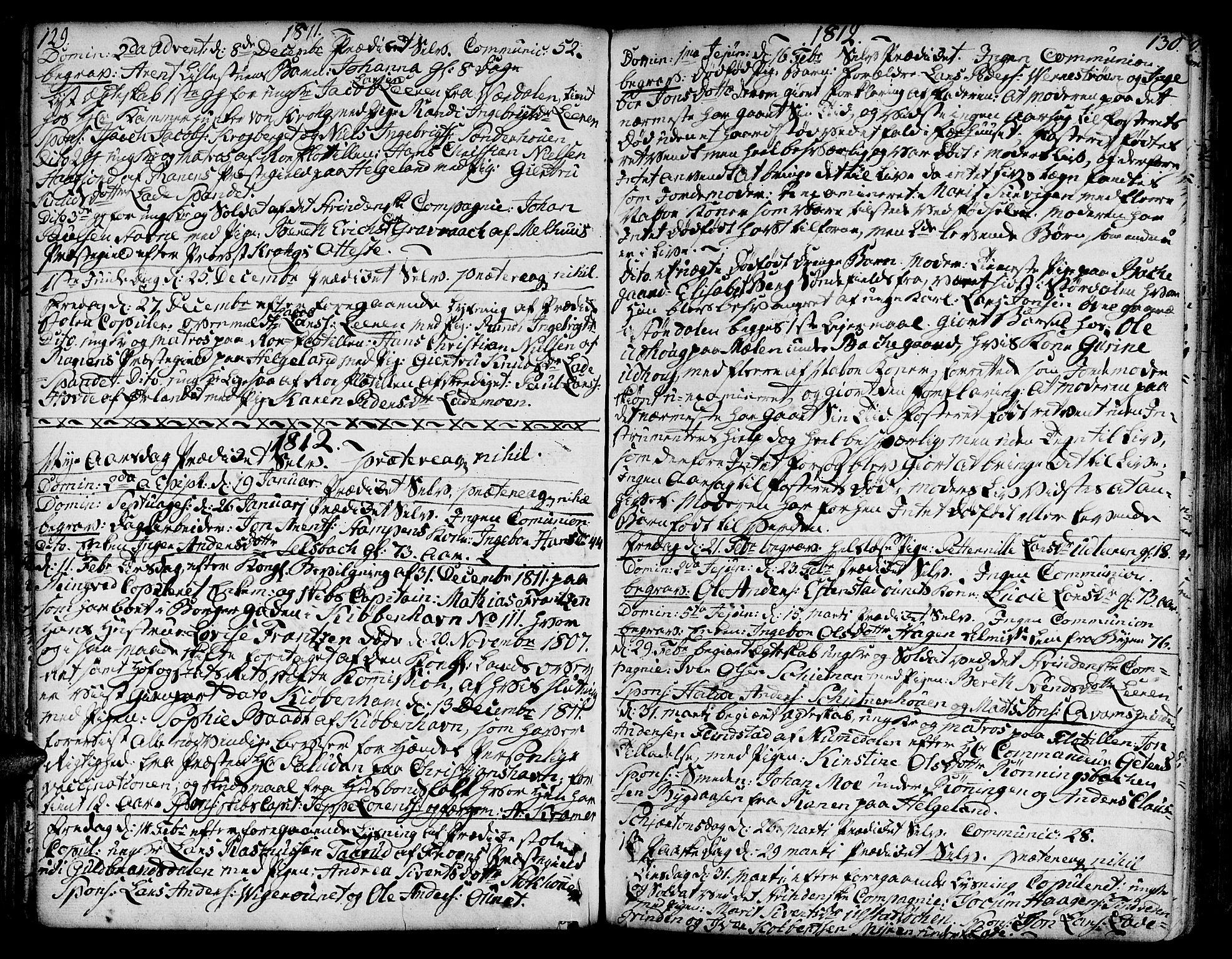 SAT, Ministerialprotokoller, klokkerbøker og fødselsregistre - Sør-Trøndelag, 606/L0280: Ministerialbok nr. 606A02 /1, 1781-1817, s. 129-130