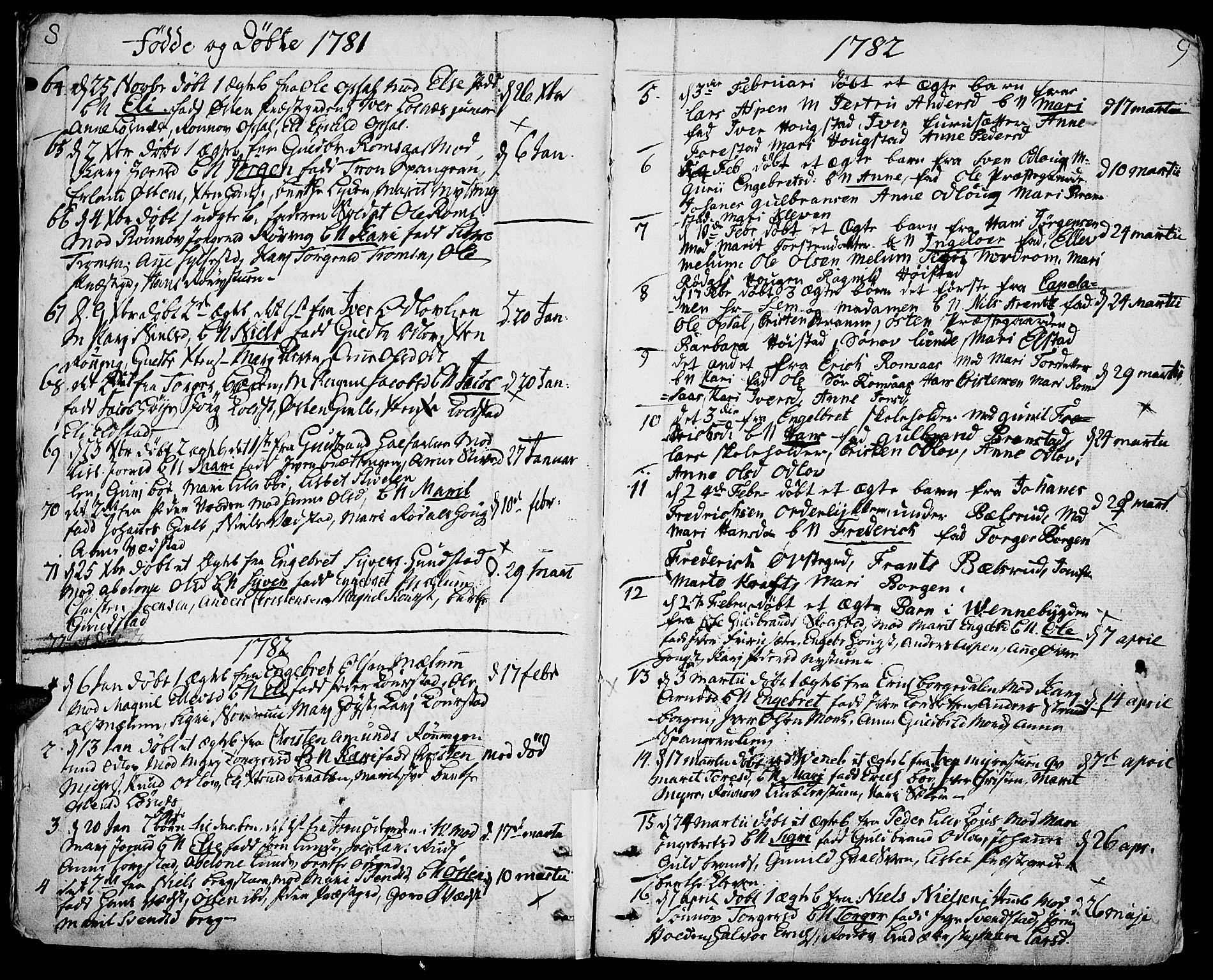 SAH, Ringebu prestekontor, Ministerialbok nr. 3, 1781-1820, s. 8-9
