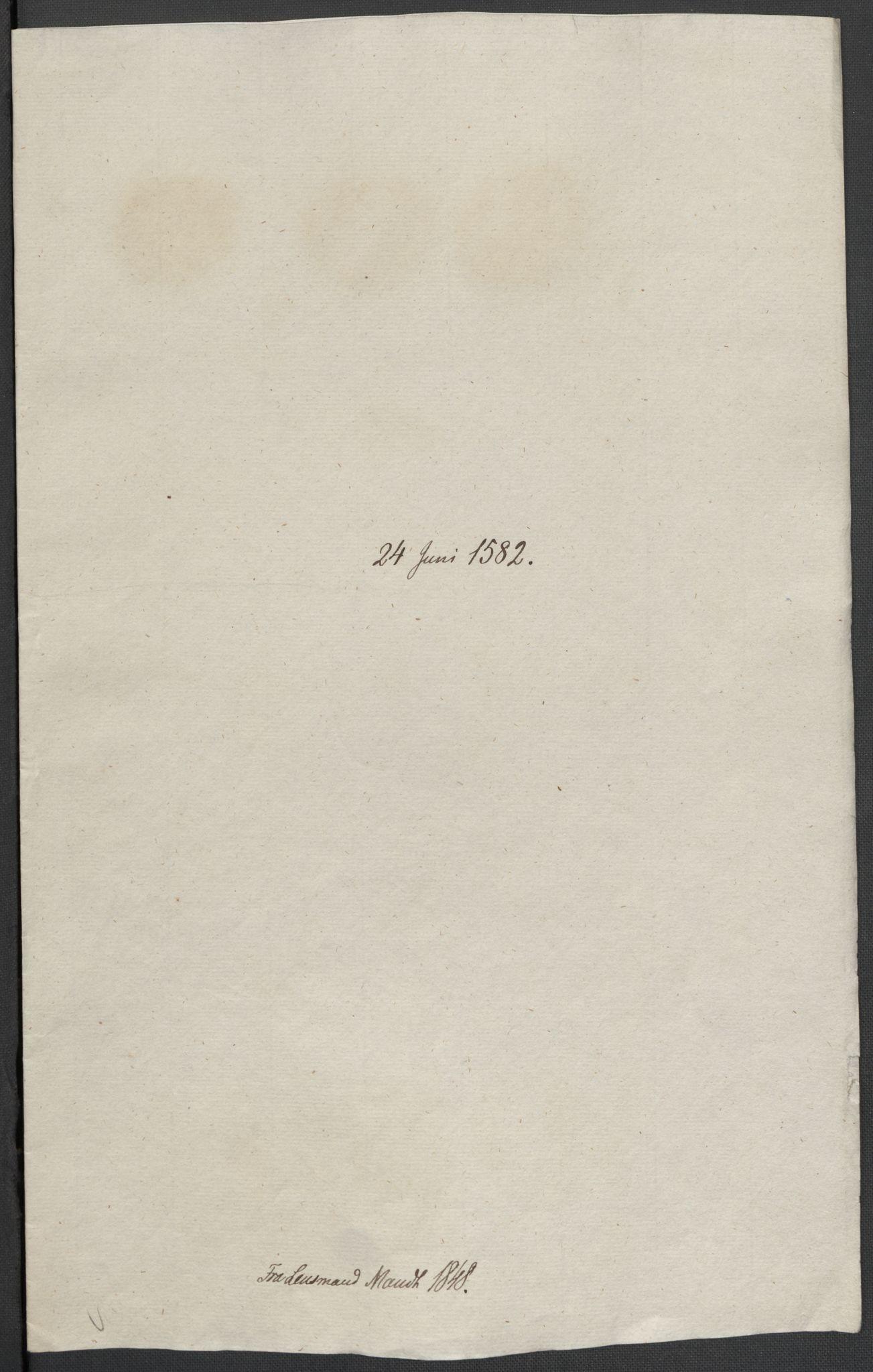 RA, Riksarkivets diplomsamling, F02/L0084: Dokumenter, 1582, s. 31