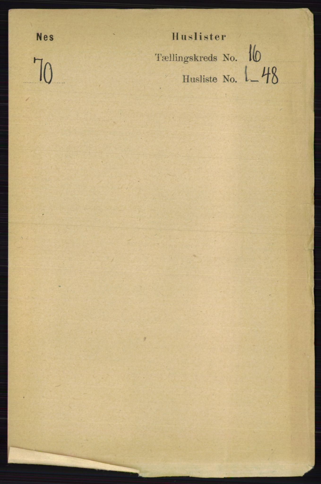 RA, Folketelling 1891 for 0236 Nes herred, 1891, s. 9498