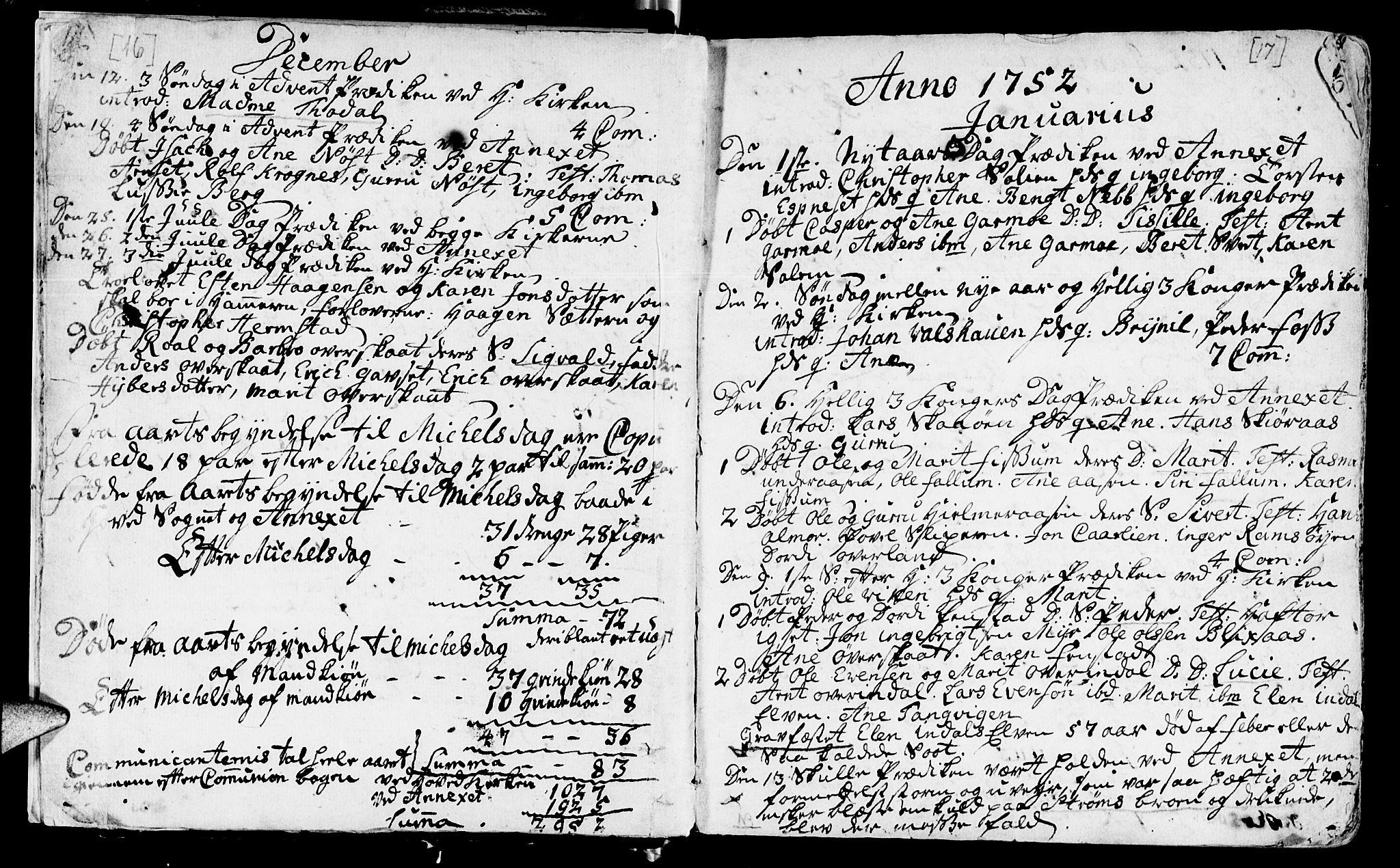 SAT, Ministerialprotokoller, klokkerbøker og fødselsregistre - Sør-Trøndelag, 646/L0605: Ministerialbok nr. 646A03, 1751-1790, s. 16-17