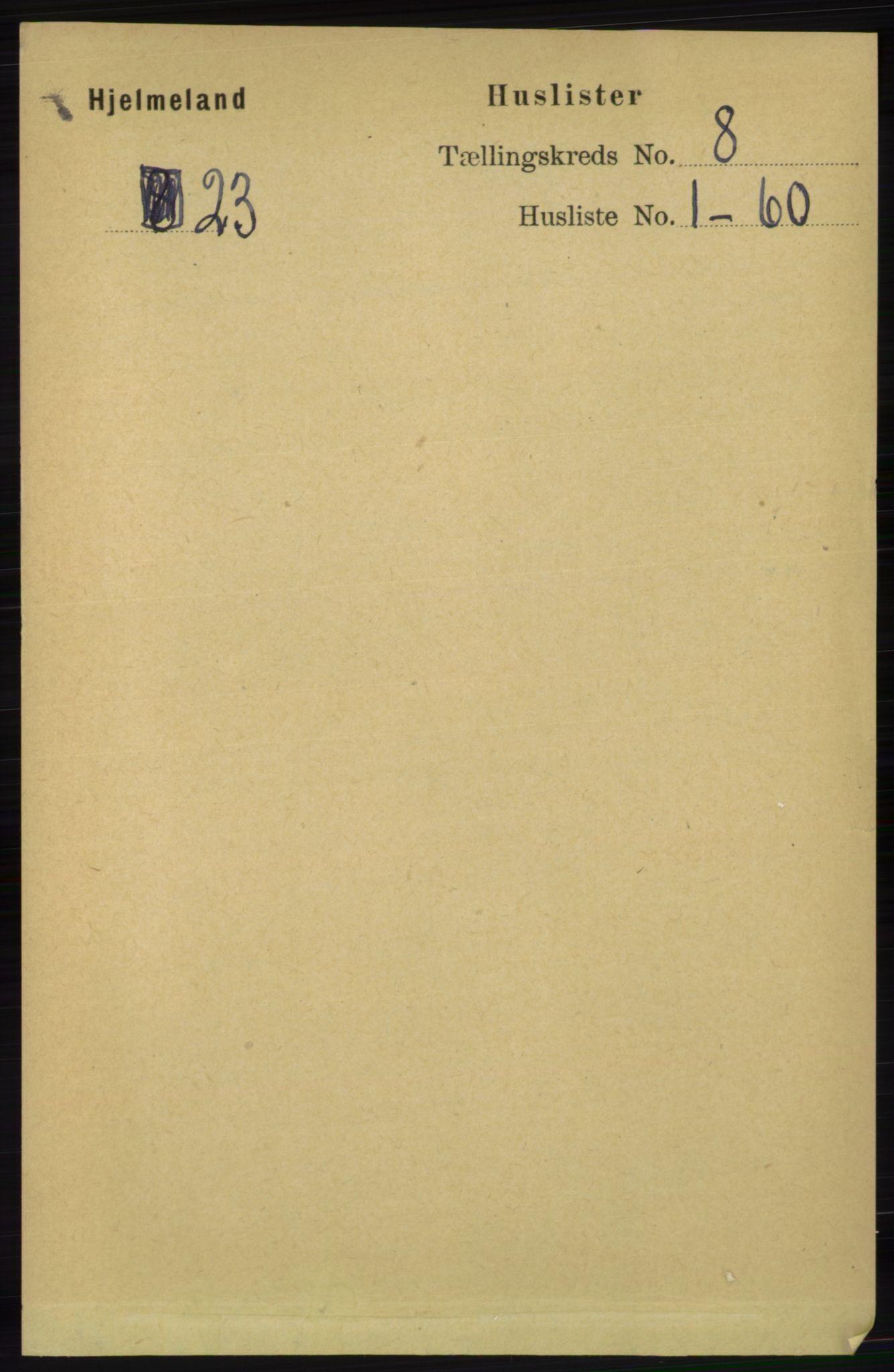 RA, Folketelling 1891 for 1133 Hjelmeland herred, 1891, s. 2410