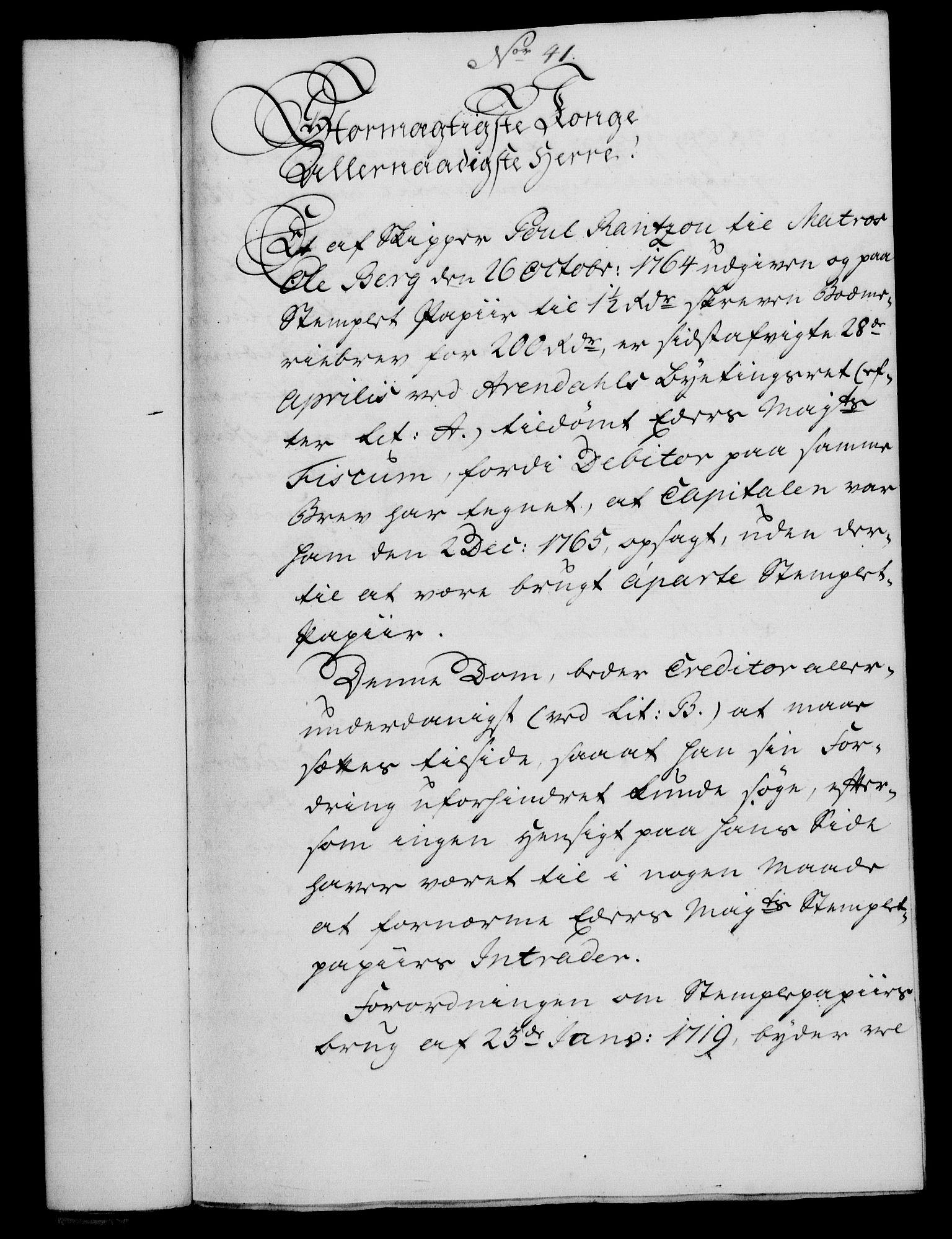 RA, Rentekammeret, Kammerkanselliet, G/Gf/Gfa/L0048: Norsk relasjons- og resolusjonsprotokoll (merket RK 52.48), 1766, s. 219
