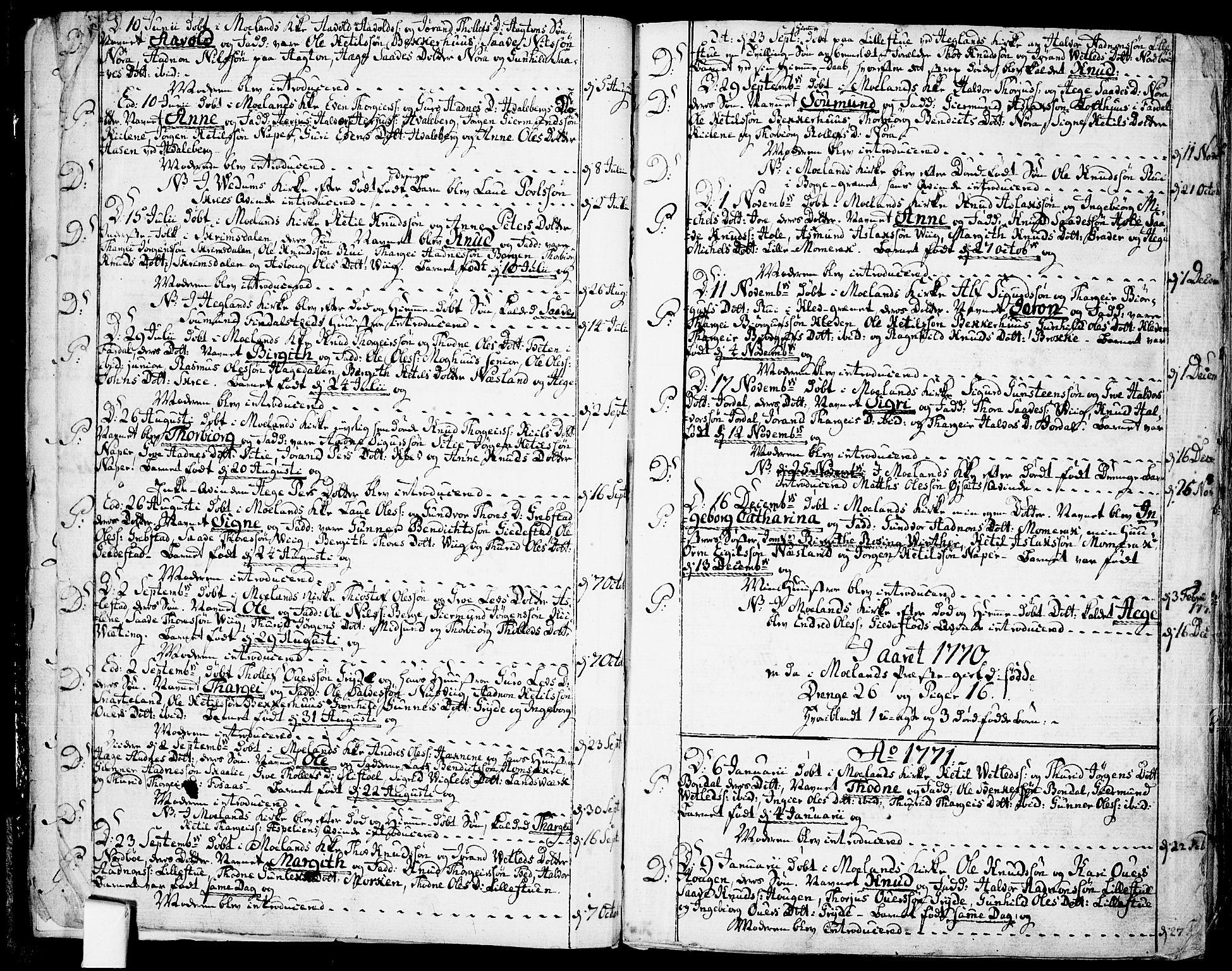 SAKO, Fyresdal kirkebøker, F/Fa/L0002: Ministerialbok nr. I 2, 1769-1814, s. 4