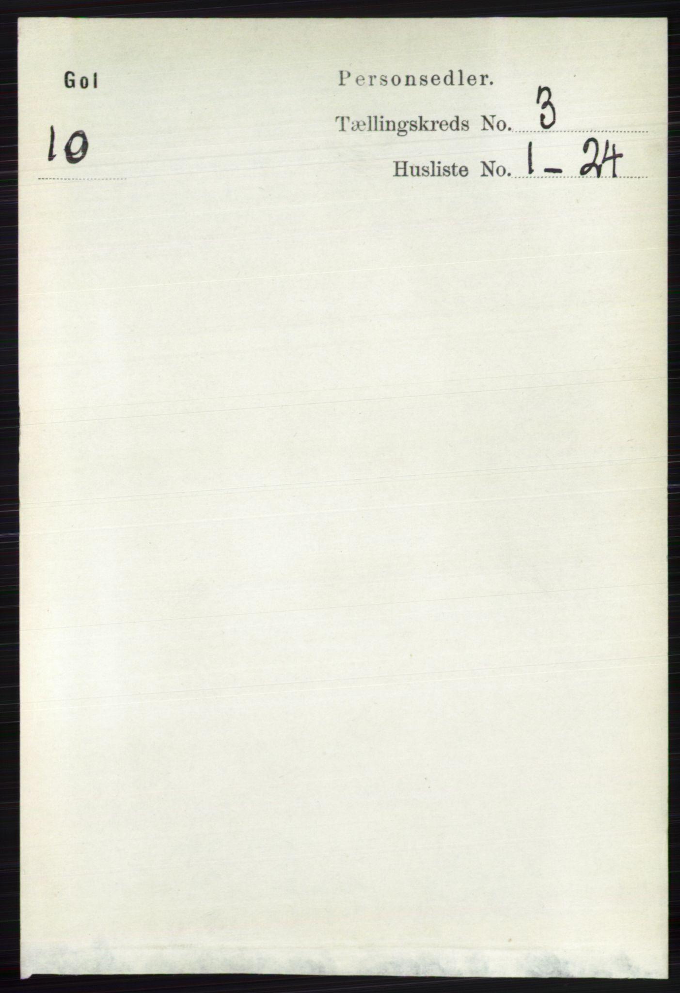 RA, Folketelling 1891 for 0617 Gol og Hemsedal herred, 1891, s. 1272