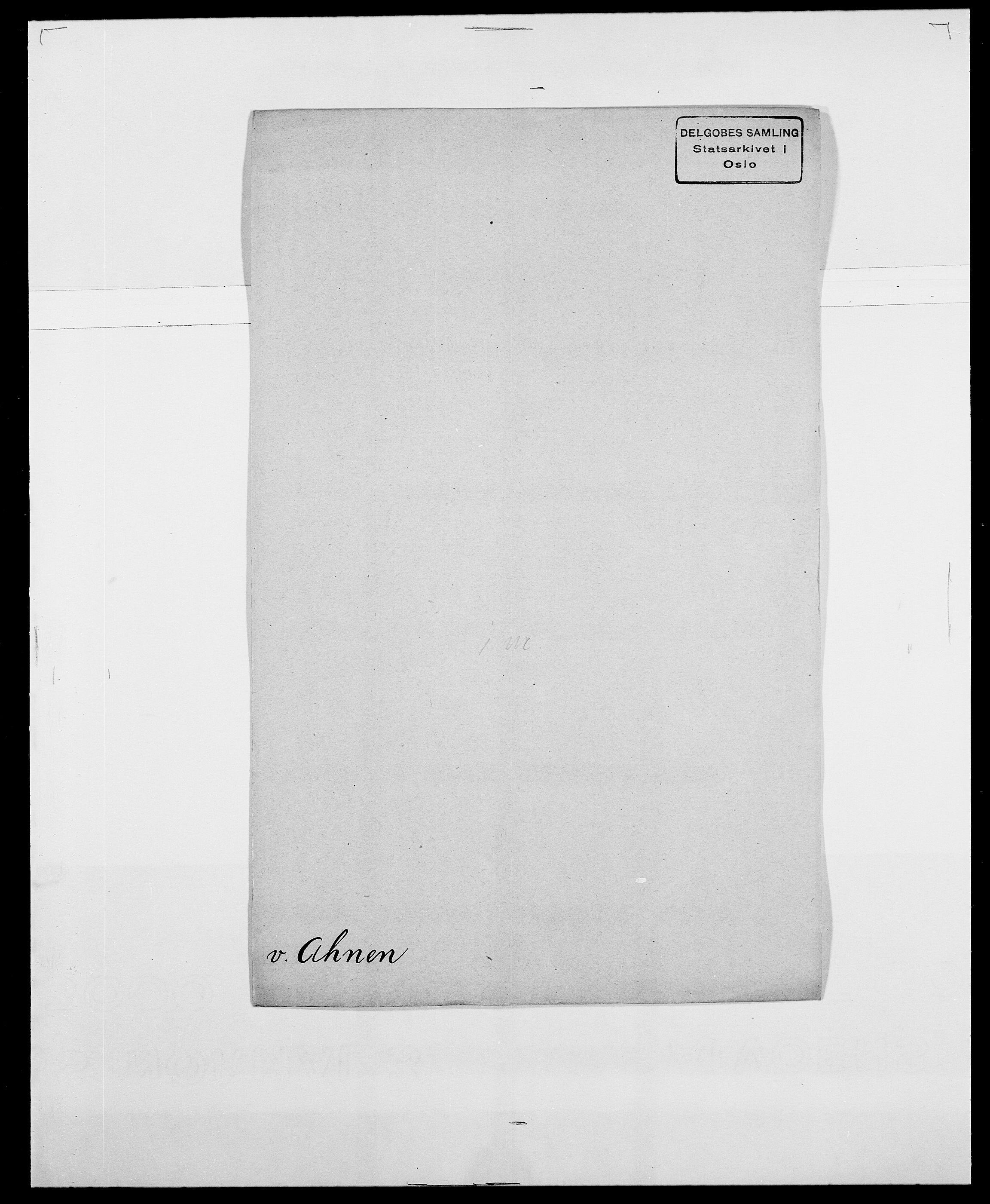 SAO, Delgobe, Charles Antoine - samling, D/Da/L0001: Aabye - Angerman, s. 343