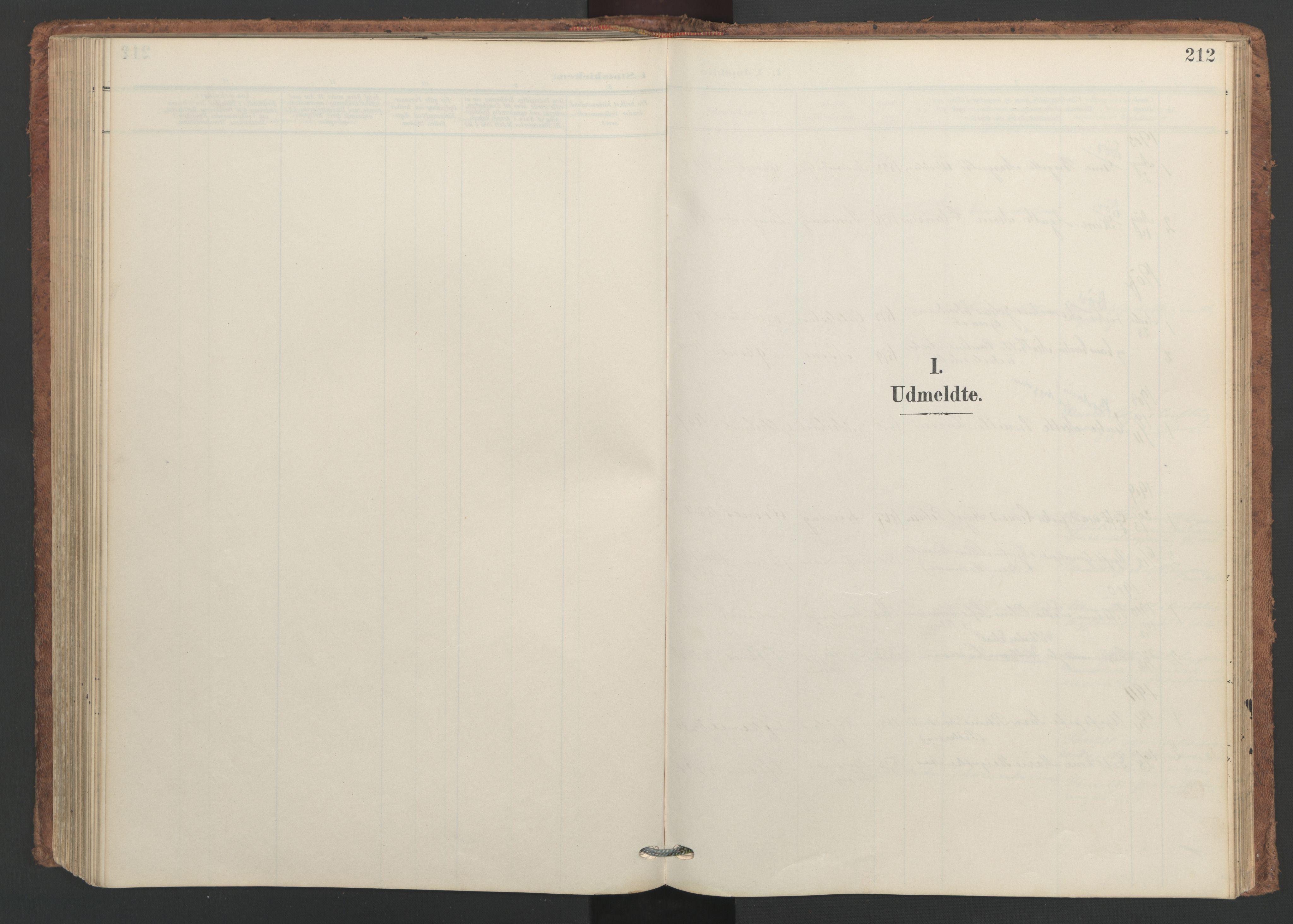 SAT, Ministerialprotokoller, klokkerbøker og fødselsregistre - Nordland, 893/L1339: Ministerialbok nr. 893A11, 1904-1914, s. 212