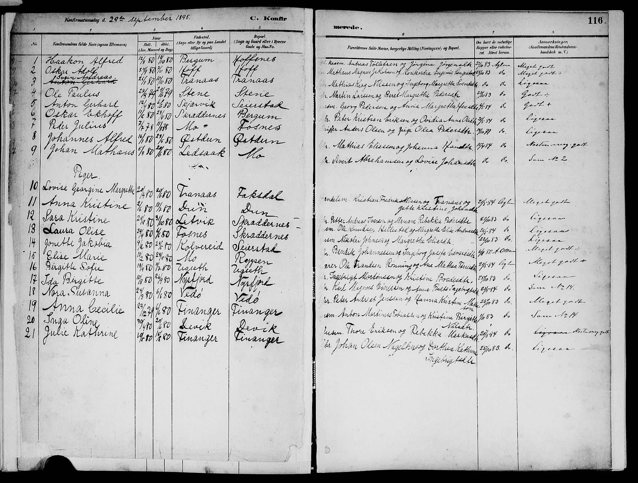 SAT, Ministerialprotokoller, klokkerbøker og fødselsregistre - Nord-Trøndelag, 773/L0617: Ministerialbok nr. 773A08, 1887-1910, s. 116