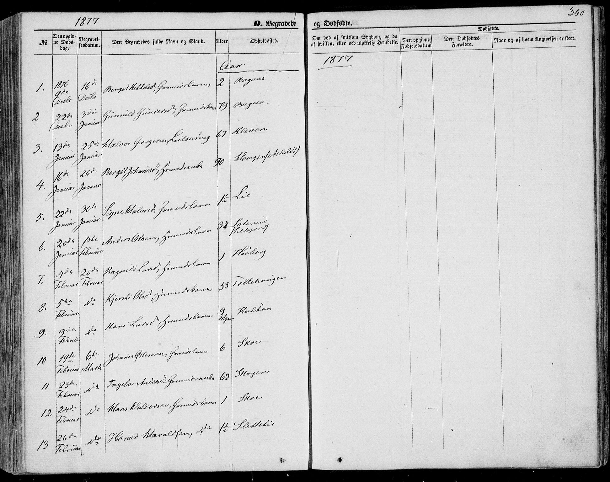 SAKO, Bø kirkebøker, F/Fa/L0009: Ministerialbok nr. 9, 1862-1879, s. 360