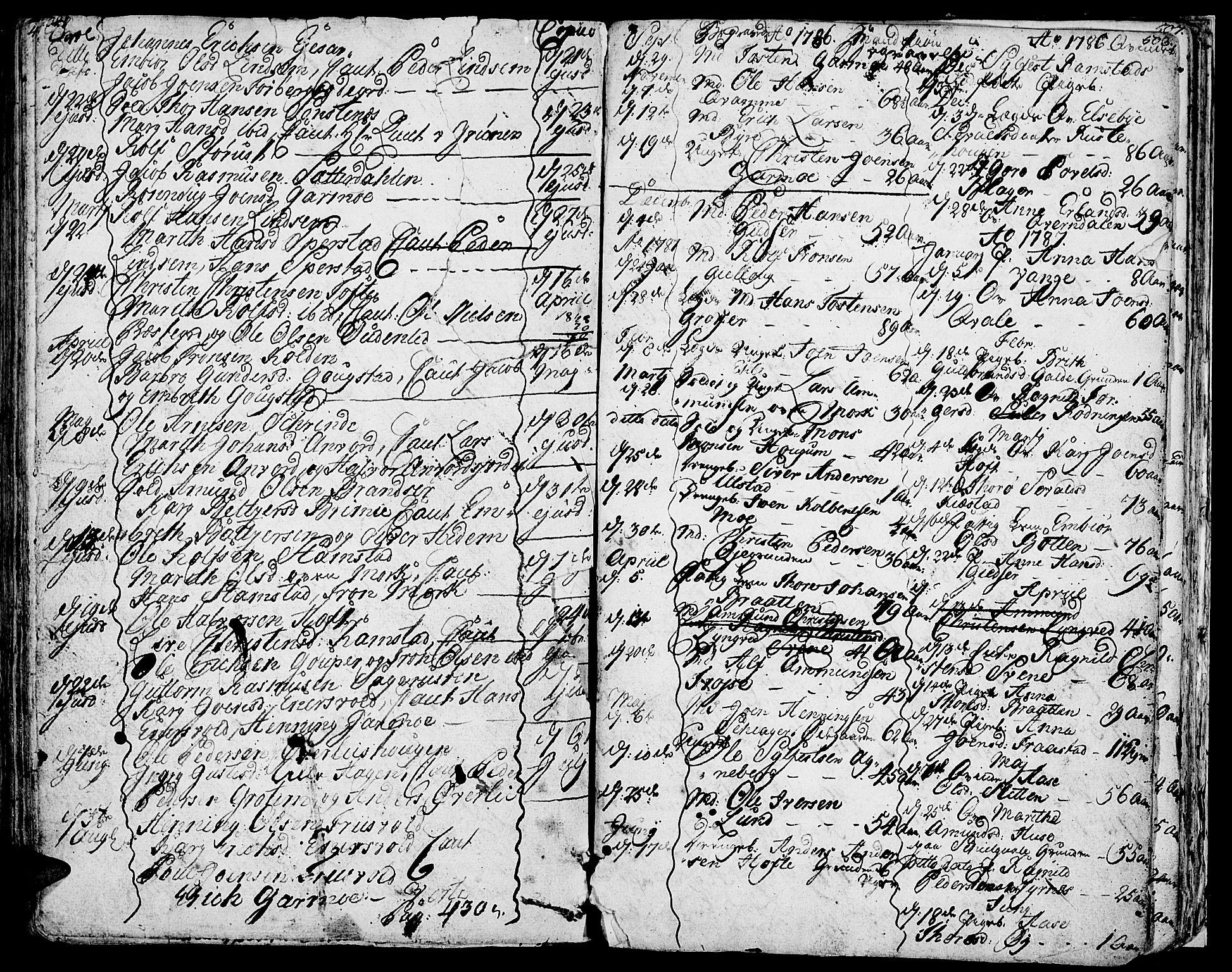 SAH, Lom prestekontor, K/L0002: Ministerialbok nr. 2, 1749-1801, s. 502-503