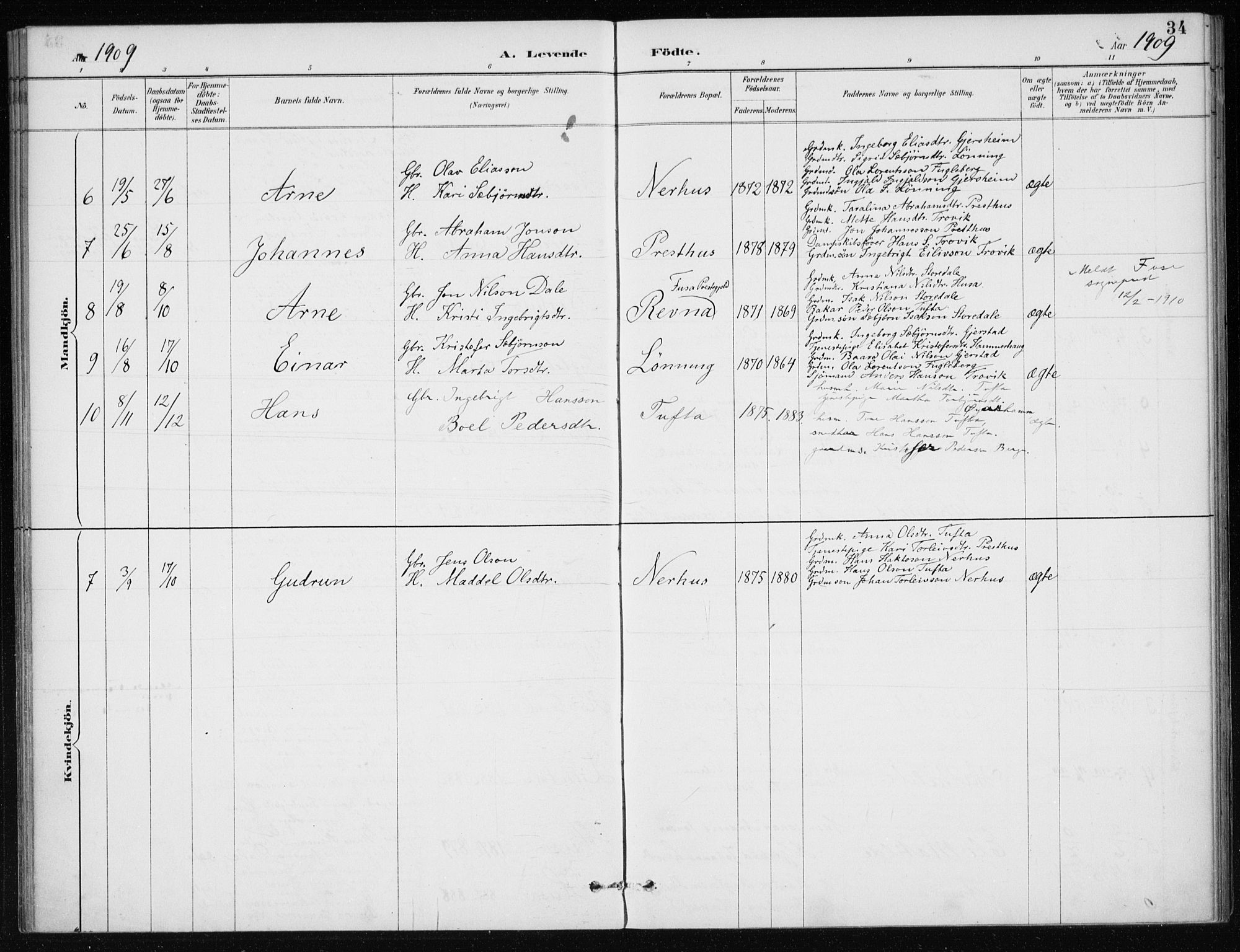 SAB, Kvinnherad Sokneprestembete, H/Haa: Ministerialbok nr. E 1, 1887-1912, s. 34