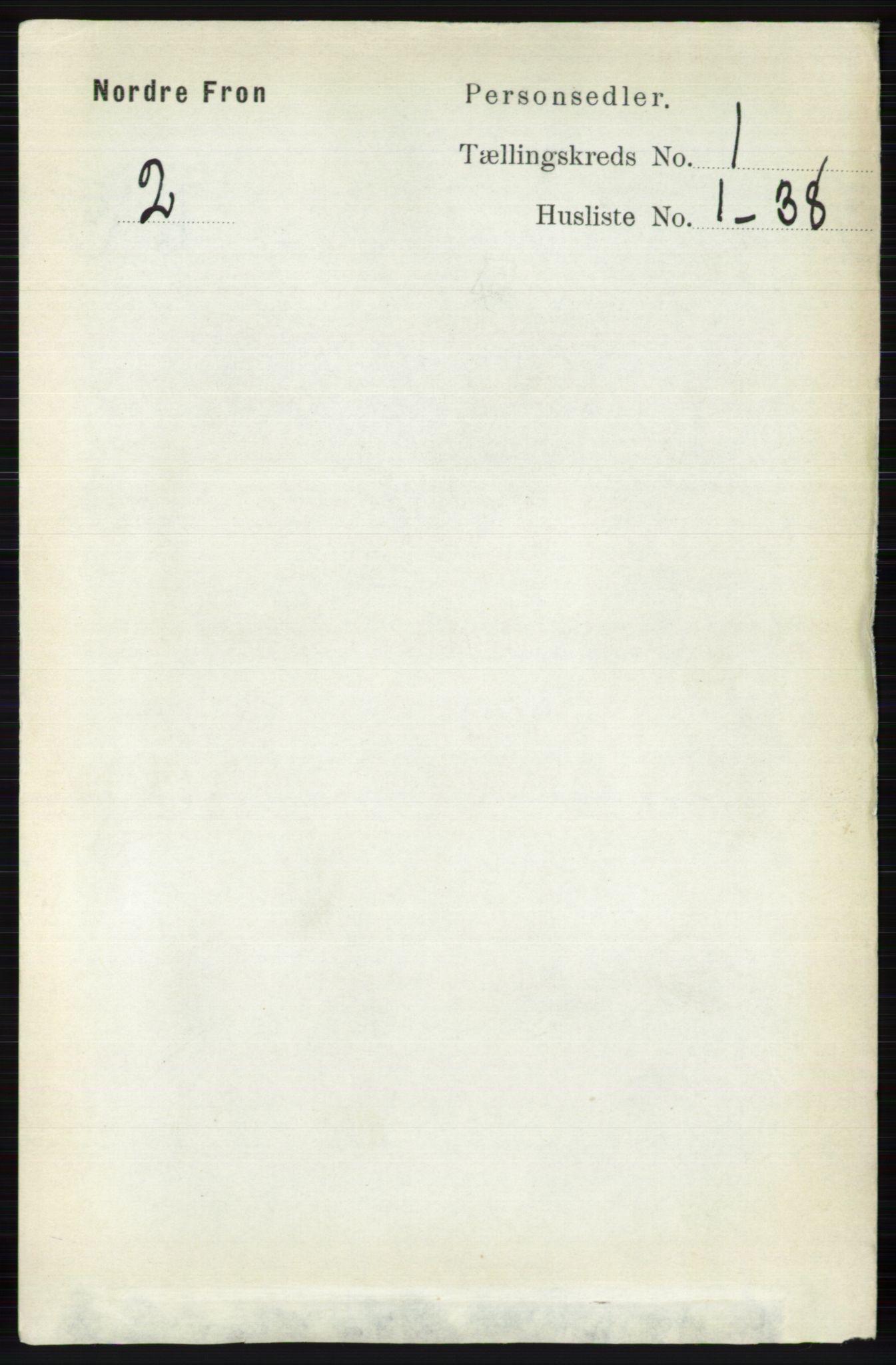 RA, Folketelling 1891 for 0518 Nord-Fron herred, 1891, s. 74