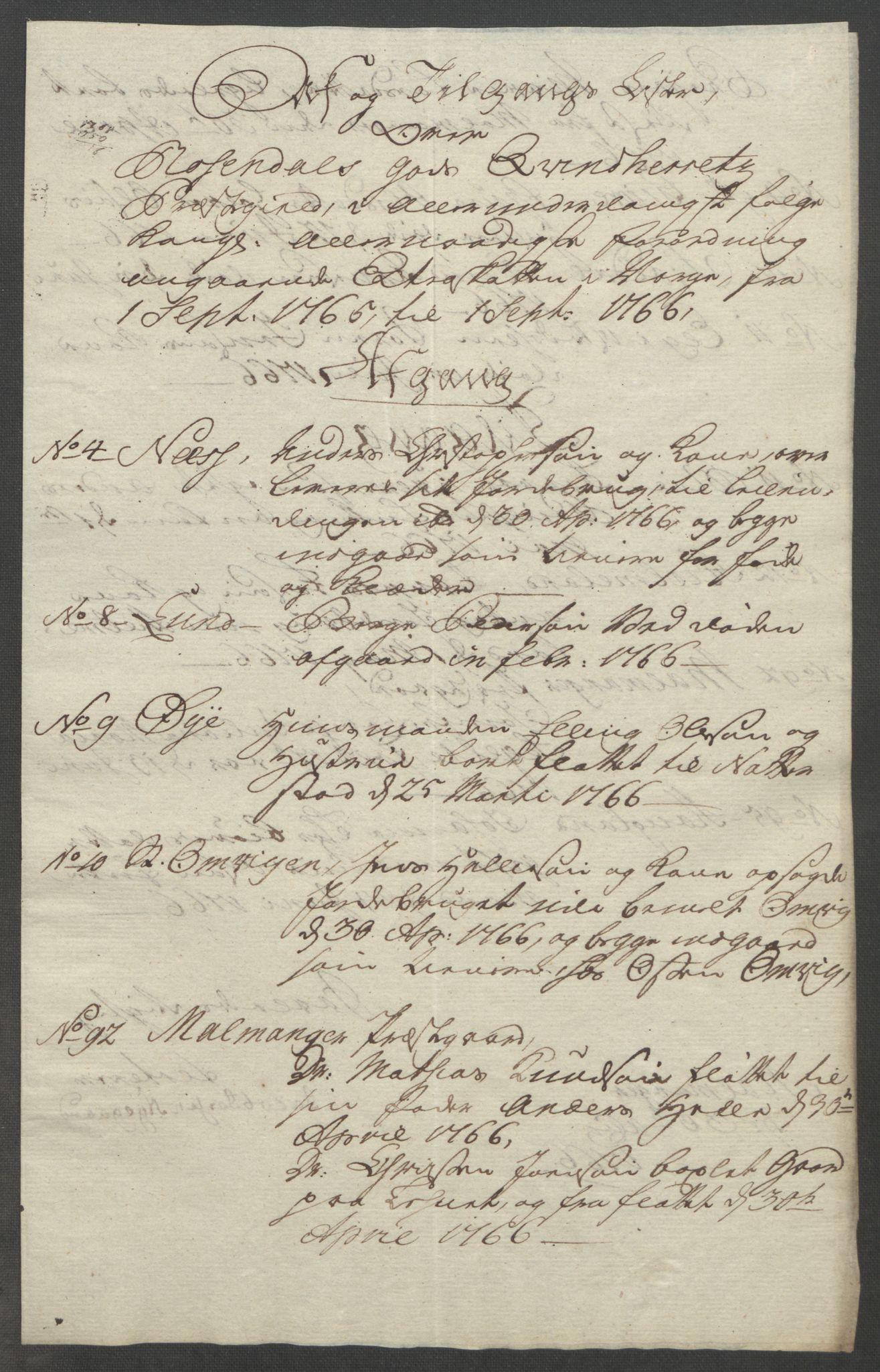 RA, Rentekammeret inntil 1814, Reviderte regnskaper, Fogderegnskap, R49/L3157: Ekstraskatten Rosendal Baroni, 1762-1772, s. 154