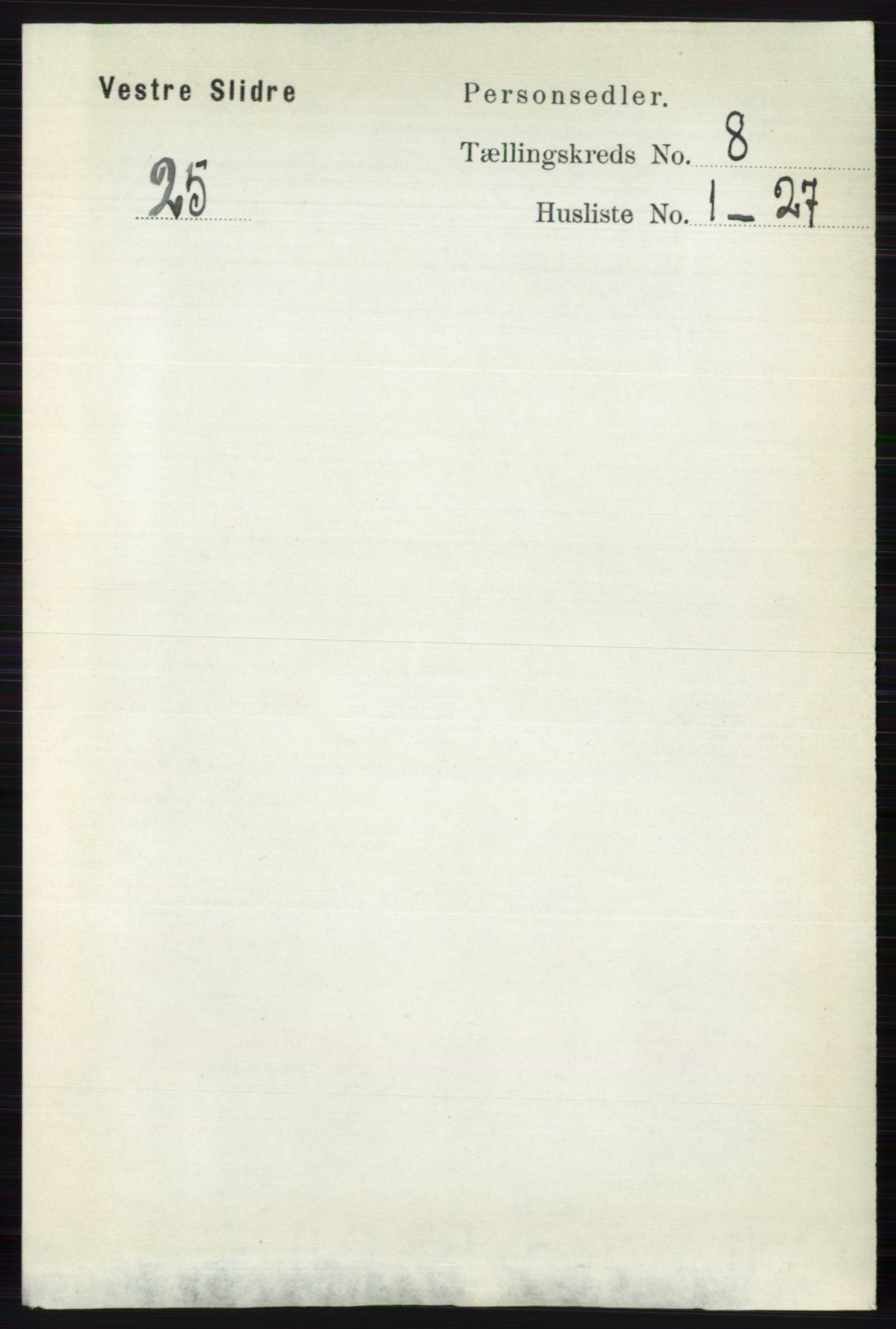 RA, Folketelling 1891 for 0543 Vestre Slidre herred, 1891, s. 2983