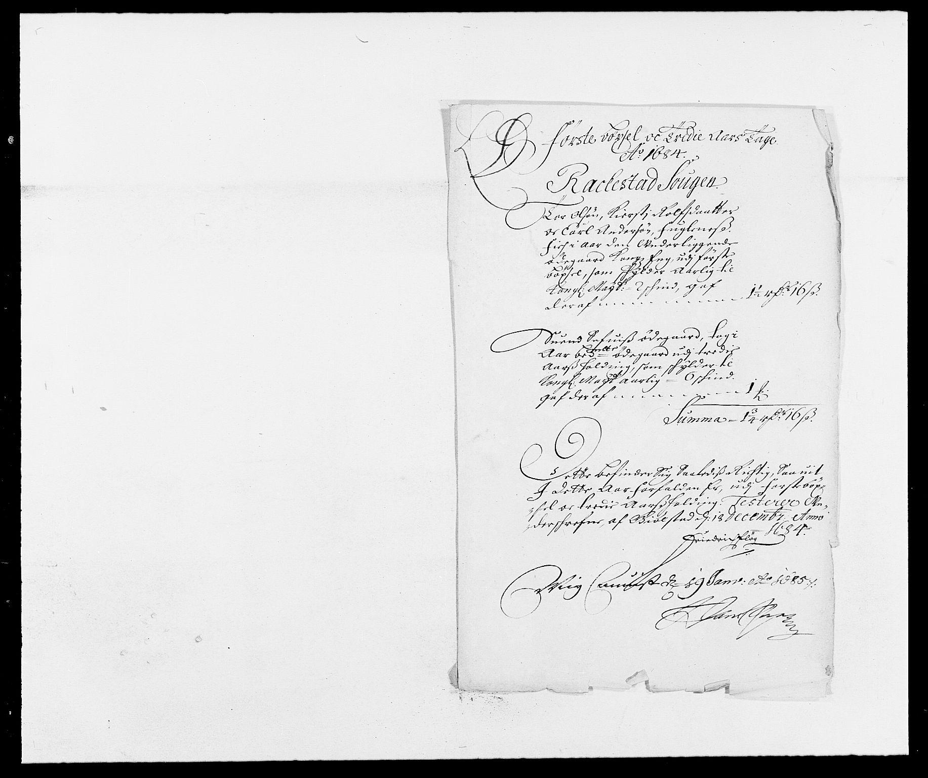 RA, Rentekammeret inntil 1814, Reviderte regnskaper, Fogderegnskap, R05/L0274: Fogderegnskap Rakkestad, 1683-1684, s. 336
