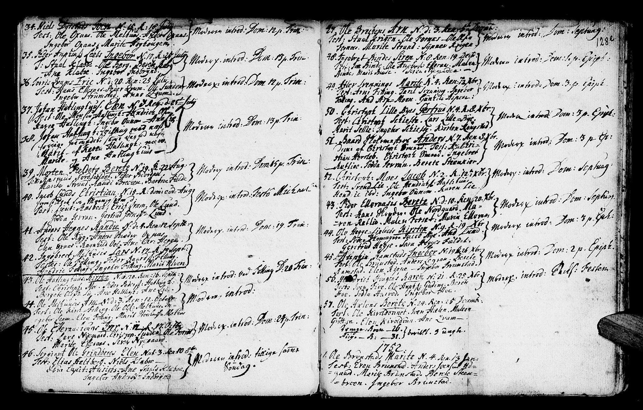 SAT, Ministerialprotokoller, klokkerbøker og fødselsregistre - Nord-Trøndelag, 746/L0439: Ministerialbok nr. 746A01, 1688-1759, s. 128e