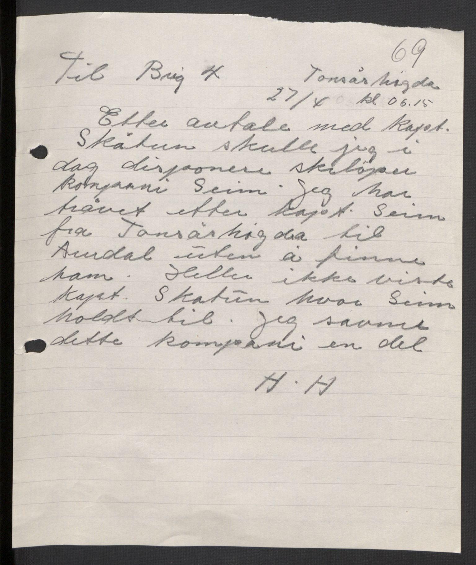 RA, Forsvaret, Forsvarets krigshistoriske avdeling, Y/Yb/L0104: II-C-11-430  -  4. Divisjon., 1940, s. 187