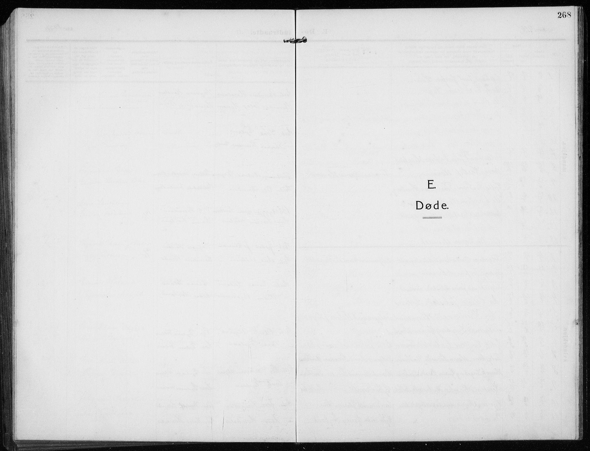 SAST, Time sokneprestkontor, 30BB/L0001: Klokkerbok nr. B 1, 1910-1932, s. 268