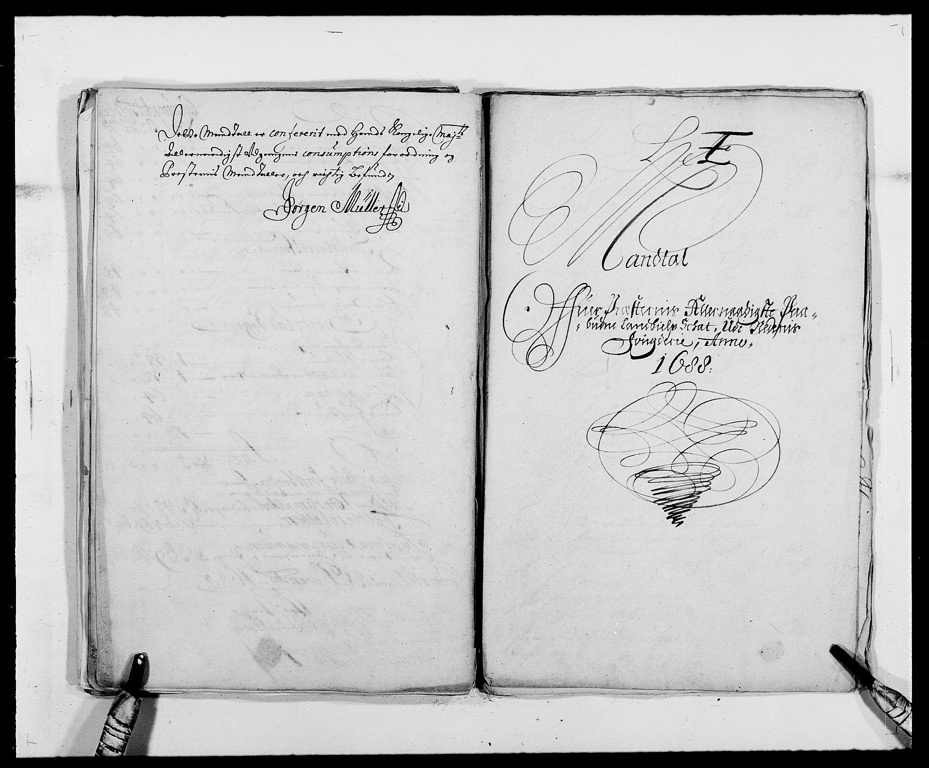 RA, Rentekammeret inntil 1814, Reviderte regnskaper, Fogderegnskap, R39/L2309: Fogderegnskap Nedenes, 1684-1689, s. 258