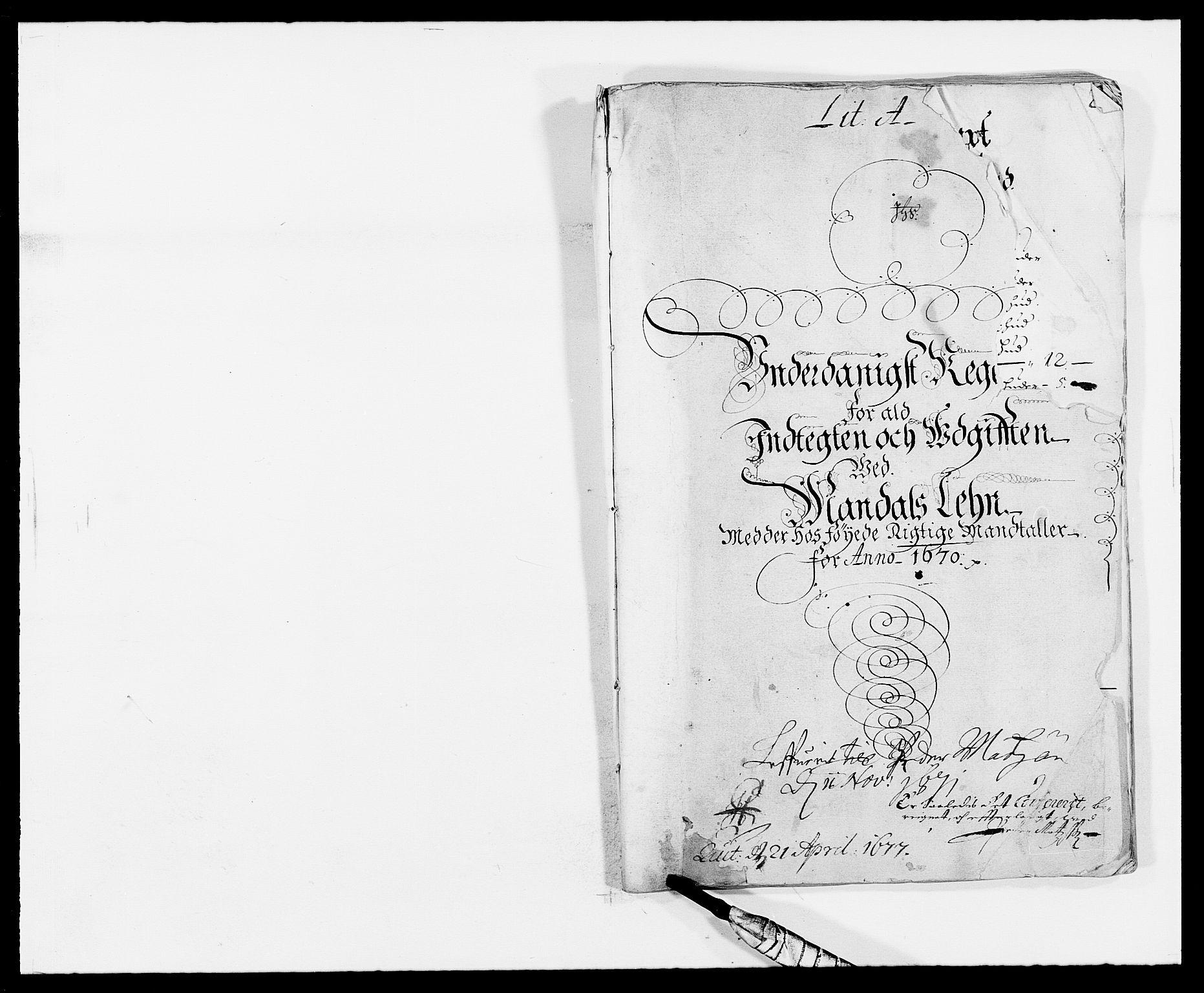 RA, Rentekammeret inntil 1814, Reviderte regnskaper, Fogderegnskap, R42/L2538: Mandal fogderi, 1667-1670, s. 221