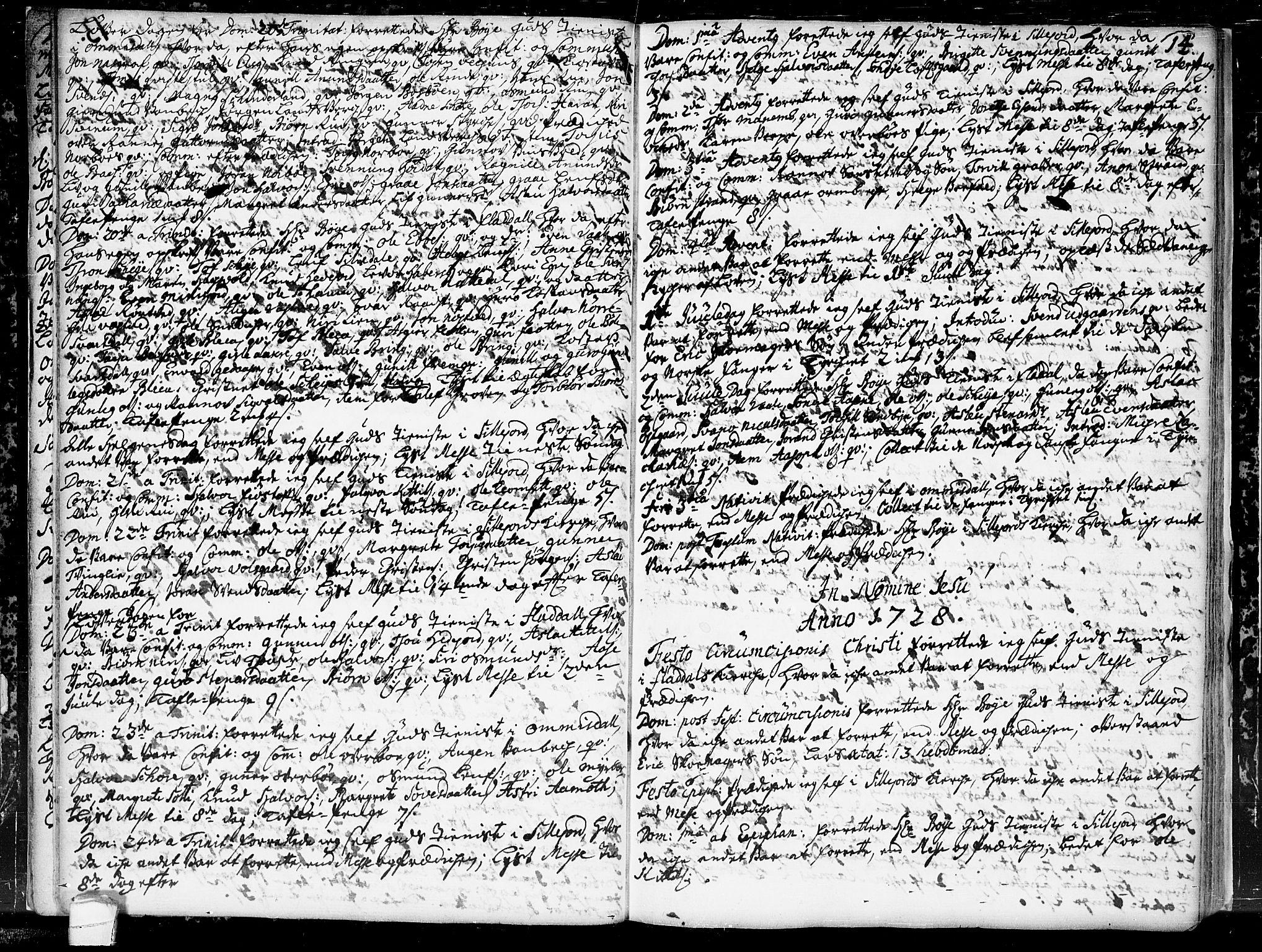 SAKO, Seljord kirkebøker, F/Fa/L0004: Ministerialbok nr. I 4, 1725-1736, s. 14