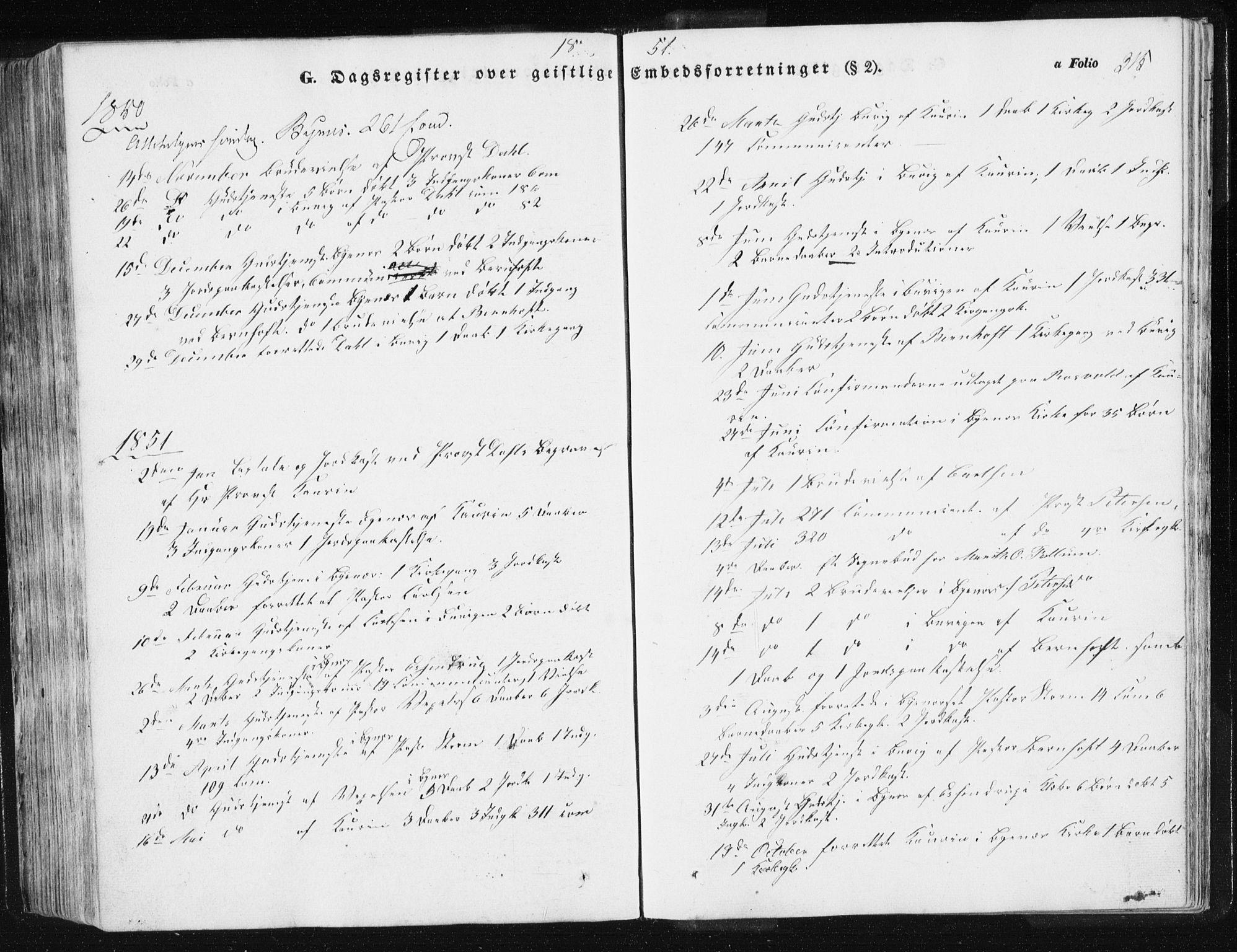 SAT, Ministerialprotokoller, klokkerbøker og fødselsregistre - Sør-Trøndelag, 612/L0376: Ministerialbok nr. 612A08, 1846-1859, s. 315