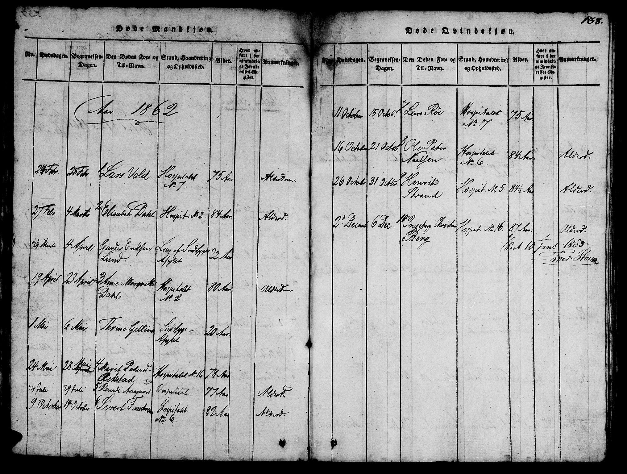 SAT, Ministerialprotokoller, klokkerbøker og fødselsregistre - Sør-Trøndelag, 623/L0478: Klokkerbok nr. 623C01, 1815-1873, s. 138