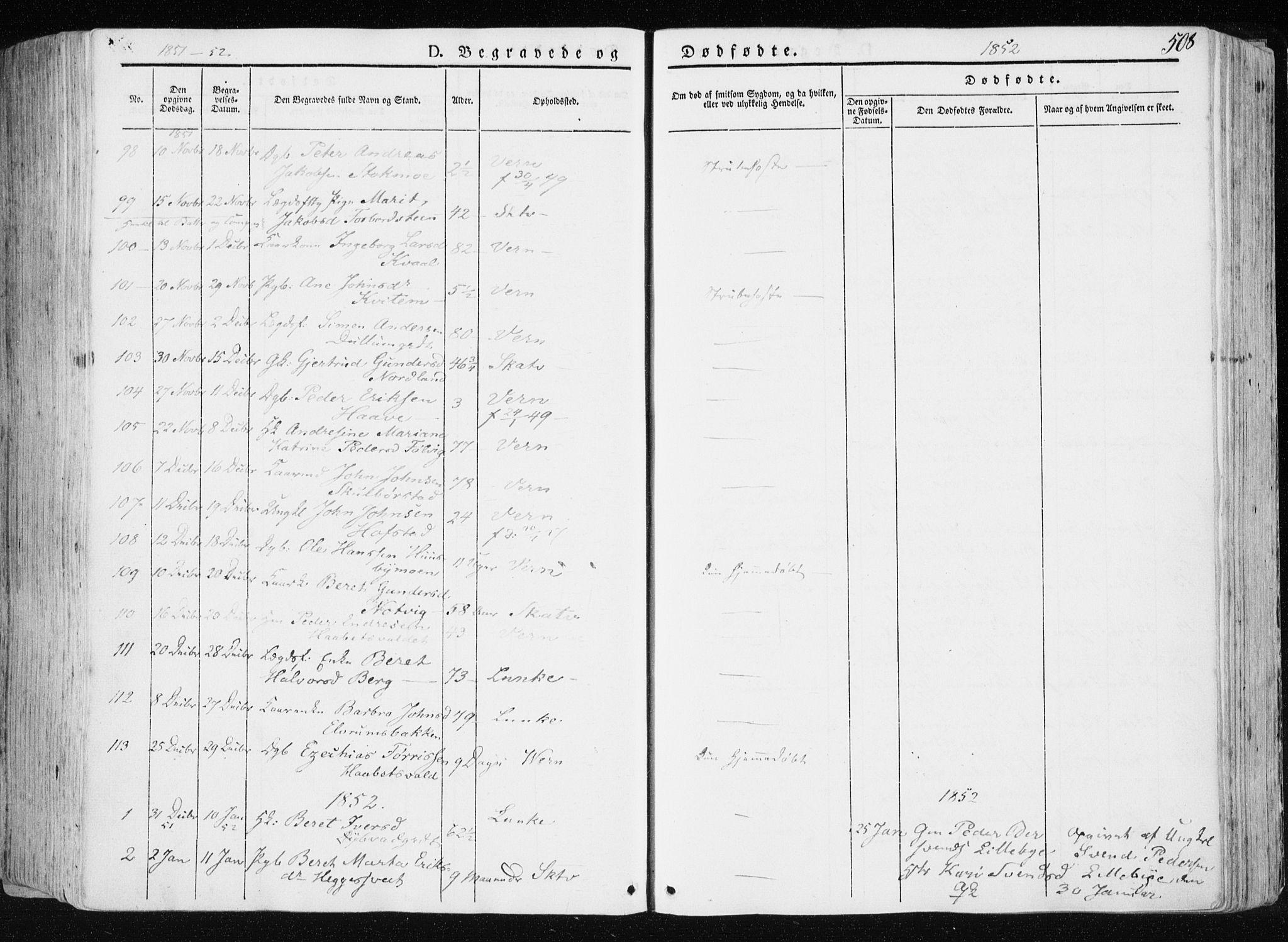 SAT, Ministerialprotokoller, klokkerbøker og fødselsregistre - Nord-Trøndelag, 709/L0074: Ministerialbok nr. 709A14, 1845-1858, s. 508