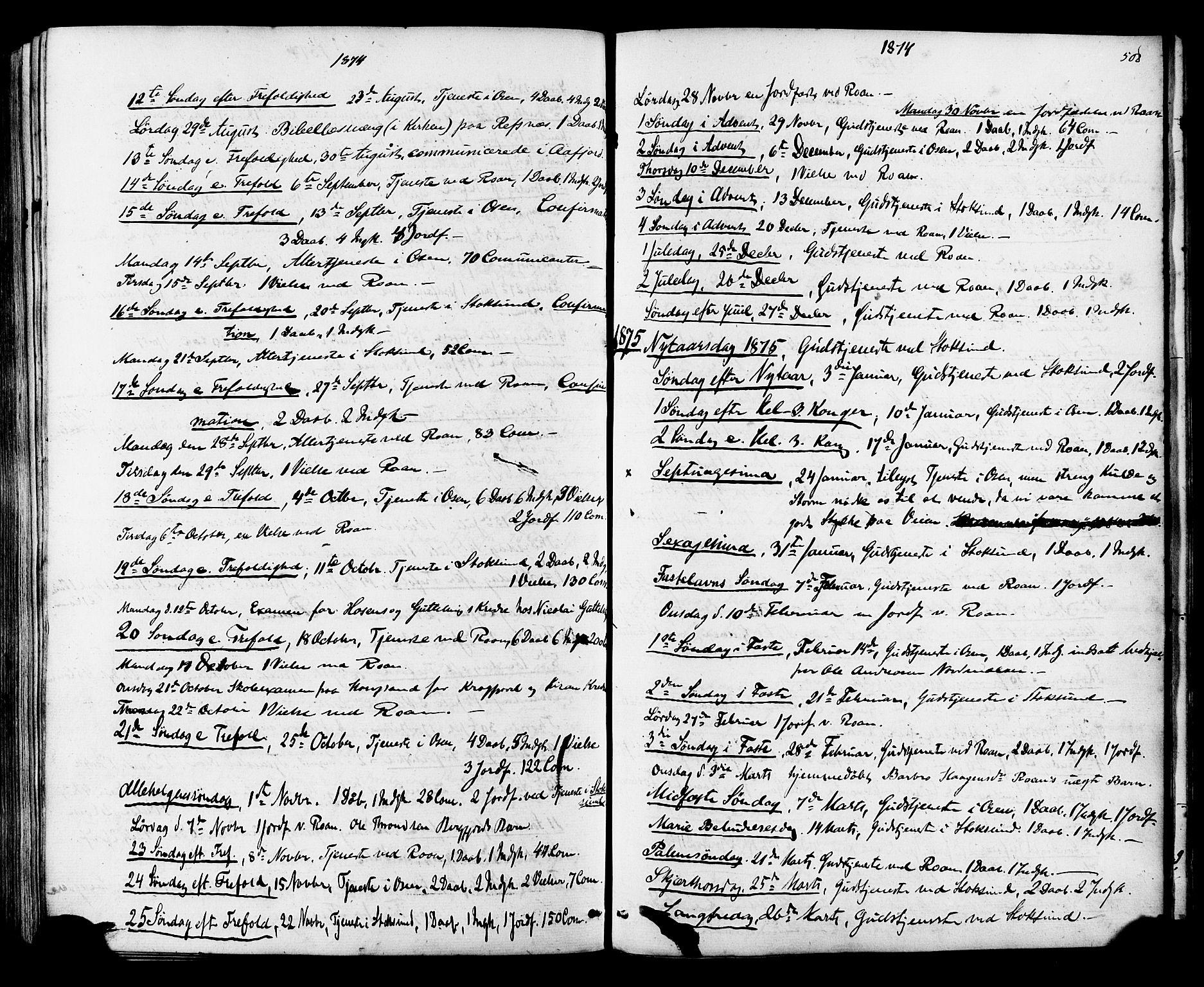 SAT, Ministerialprotokoller, klokkerbøker og fødselsregistre - Sør-Trøndelag, 657/L0706: Ministerialbok nr. 657A07, 1867-1878, s. 508