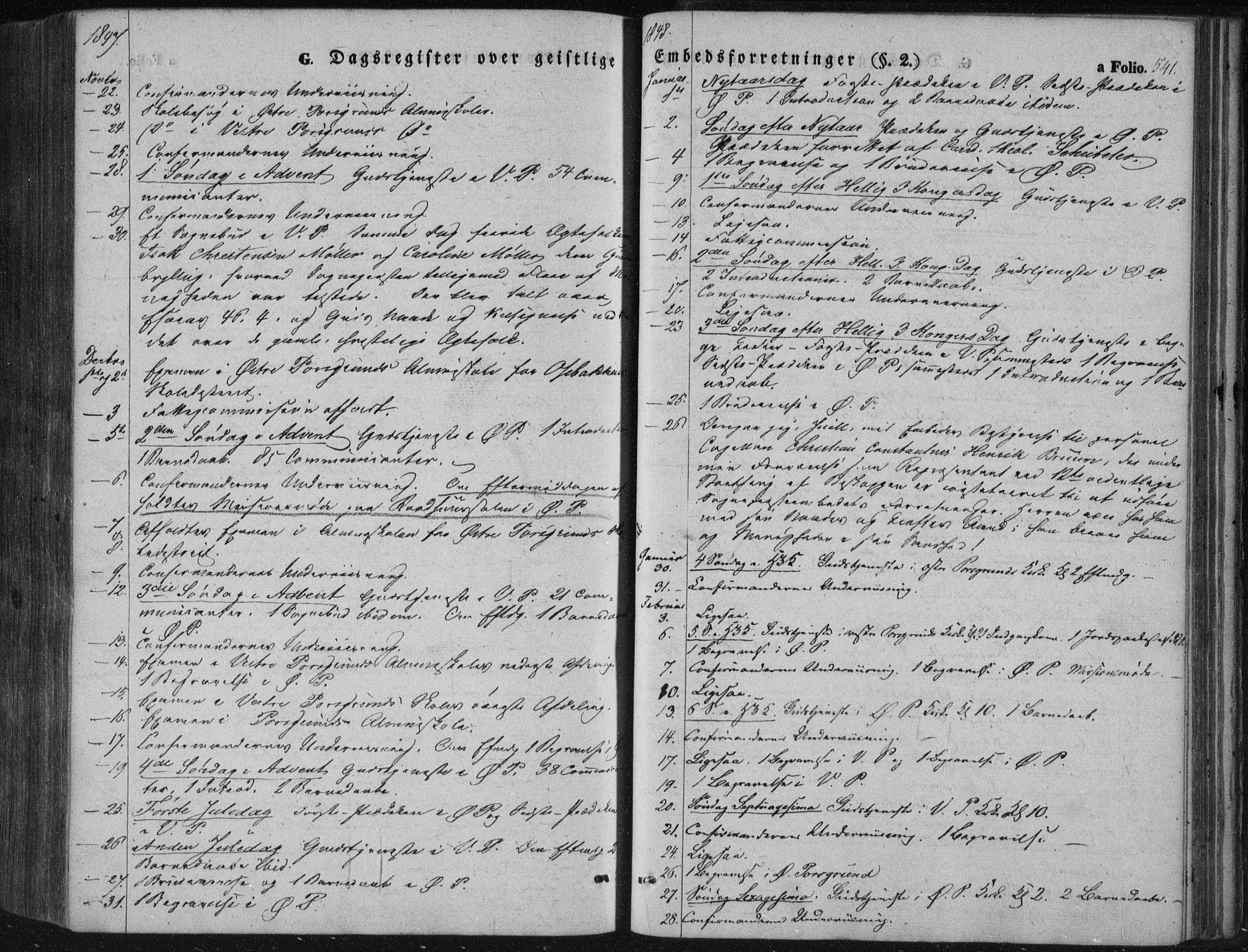 SAKO, Porsgrunn kirkebøker , F/Fa/L0006: Ministerialbok nr. 6, 1841-1857, s. 541