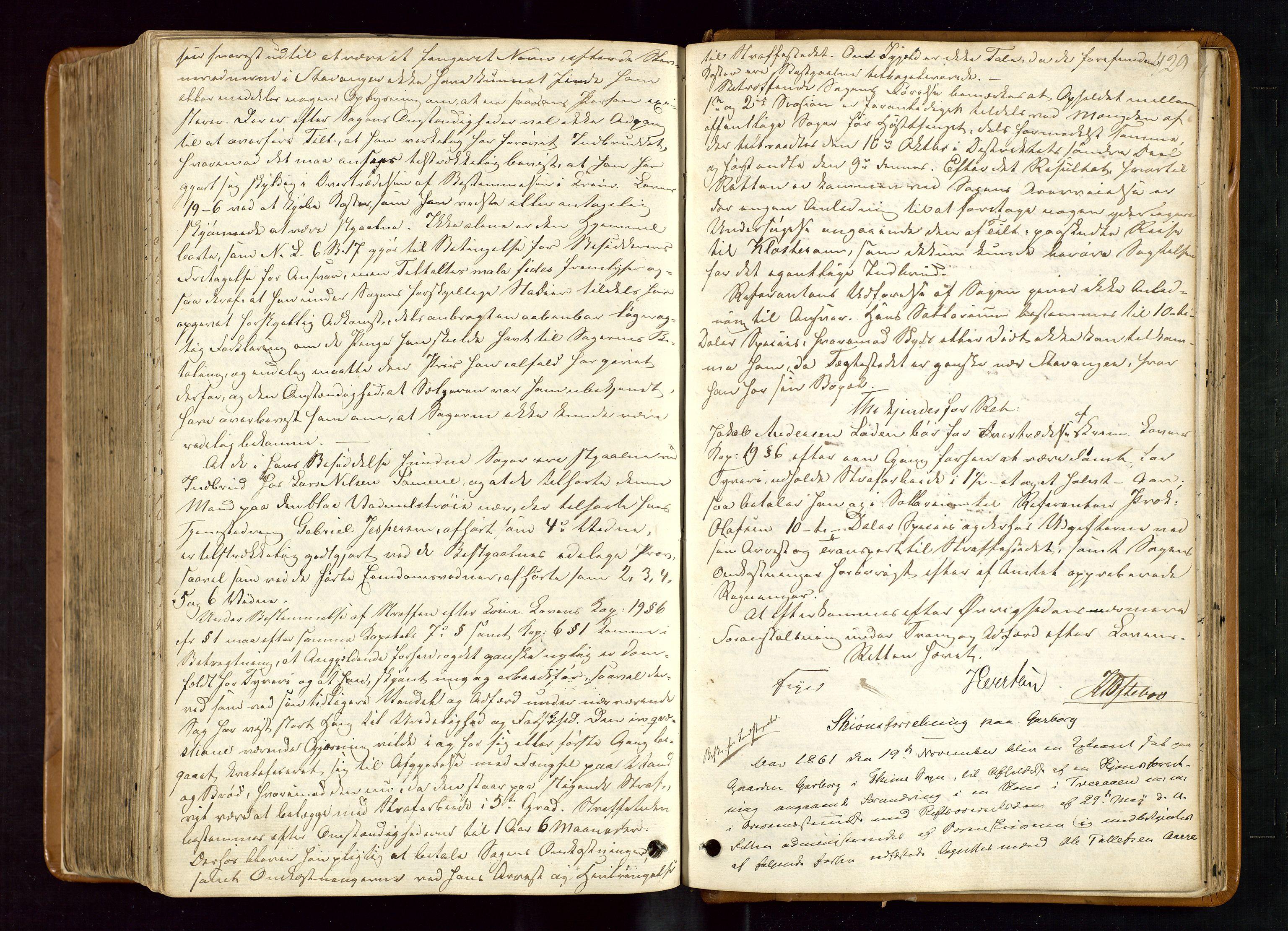 SAST, Jæren og Dalane sorenskriveri, 3/30/30BBC/L0007: EKSTRARETTSPROTOKOLL - JÆREN, 1854-1862, s. 428b-429a