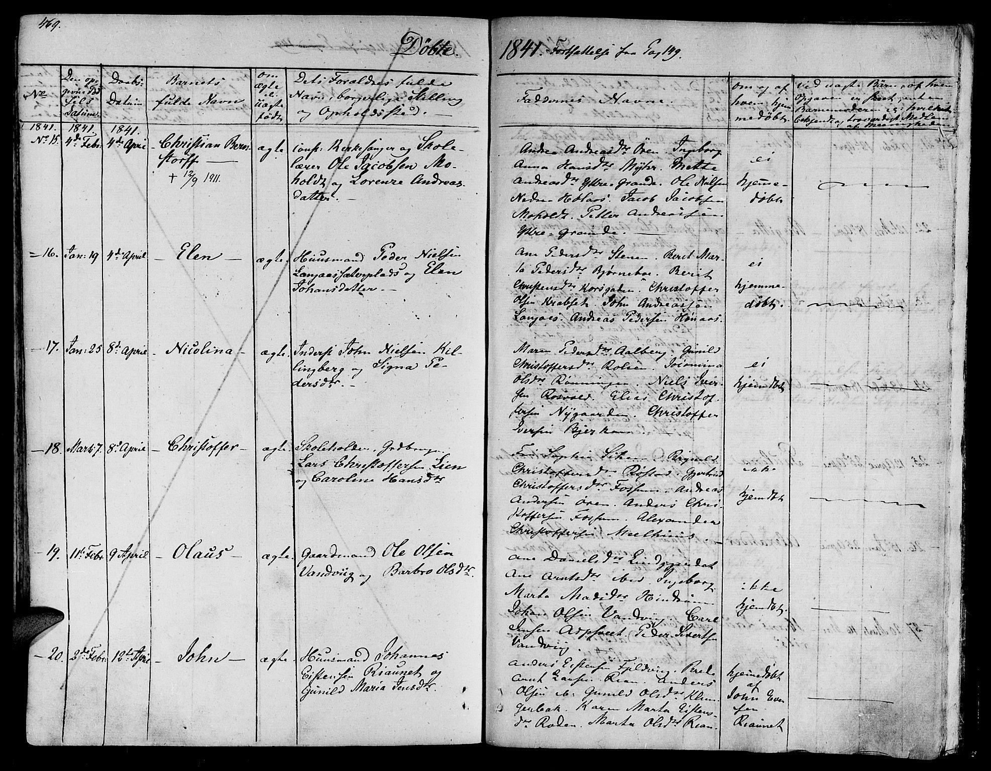 SAT, Ministerialprotokoller, klokkerbøker og fødselsregistre - Nord-Trøndelag, 701/L0006: Ministerialbok nr. 701A06, 1825-1841, s. 469