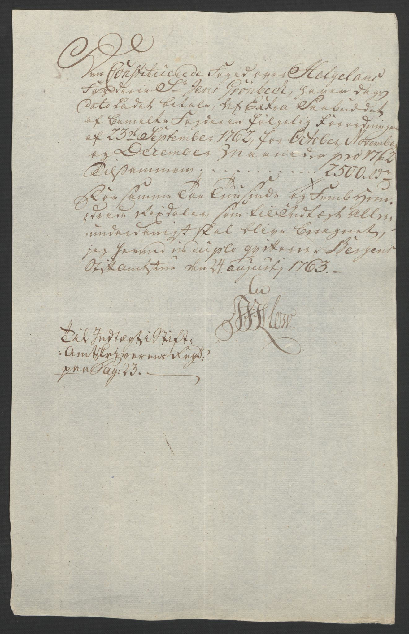 RA, Rentekammeret inntil 1814, Reviderte regnskaper, Fogderegnskap, R65/L4573: Ekstraskatten Helgeland, 1762-1772, s. 16