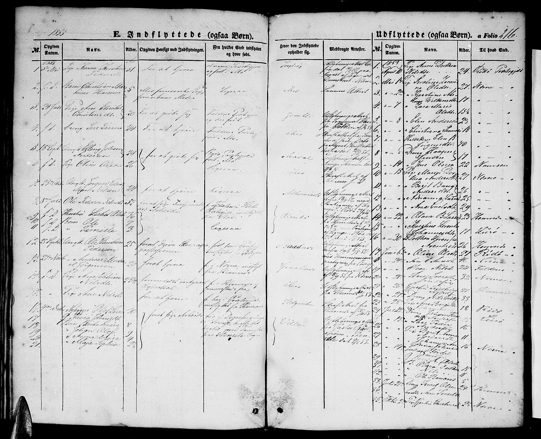 SAT, Ministerialprotokoller, klokkerbøker og fødselsregistre - Nordland, 827/L0414: Klokkerbok nr. 827C03, 1853-1865, s. 216