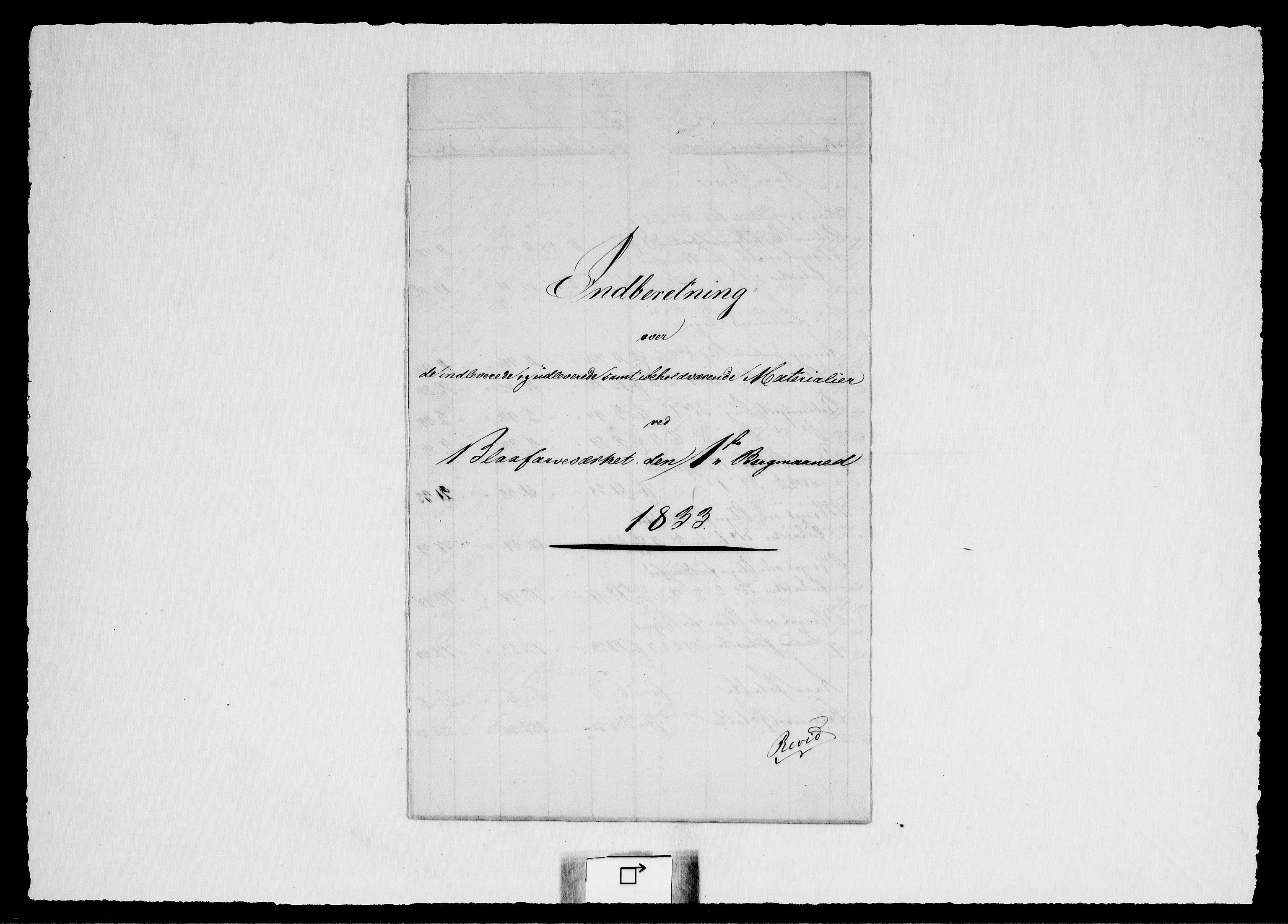RA, Modums Blaafarveværk, G/Gd/Gdd/L0247, 1833-1835, s. 2