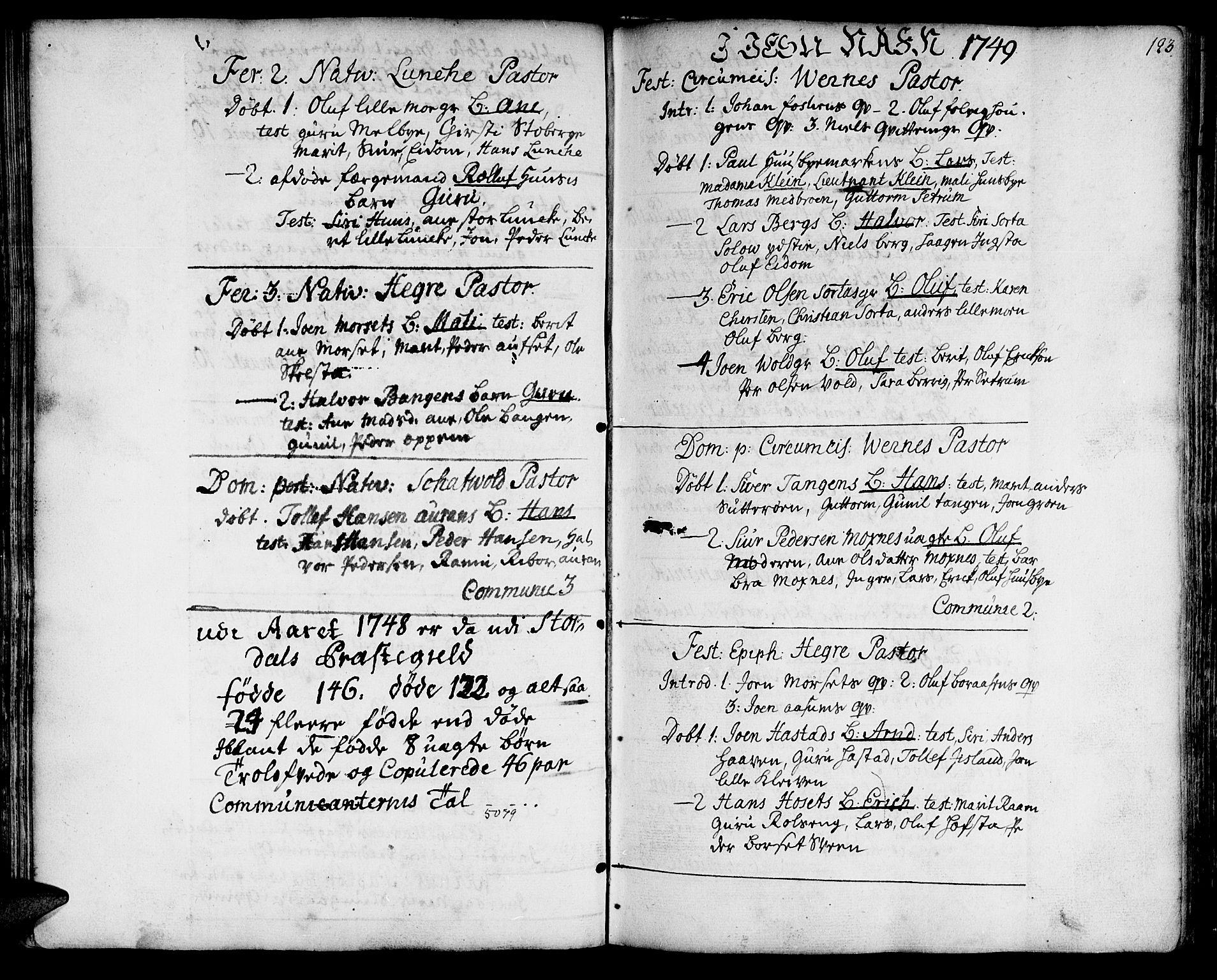 SAT, Ministerialprotokoller, klokkerbøker og fødselsregistre - Nord-Trøndelag, 709/L0056: Ministerialbok nr. 709A04, 1740-1756, s. 123