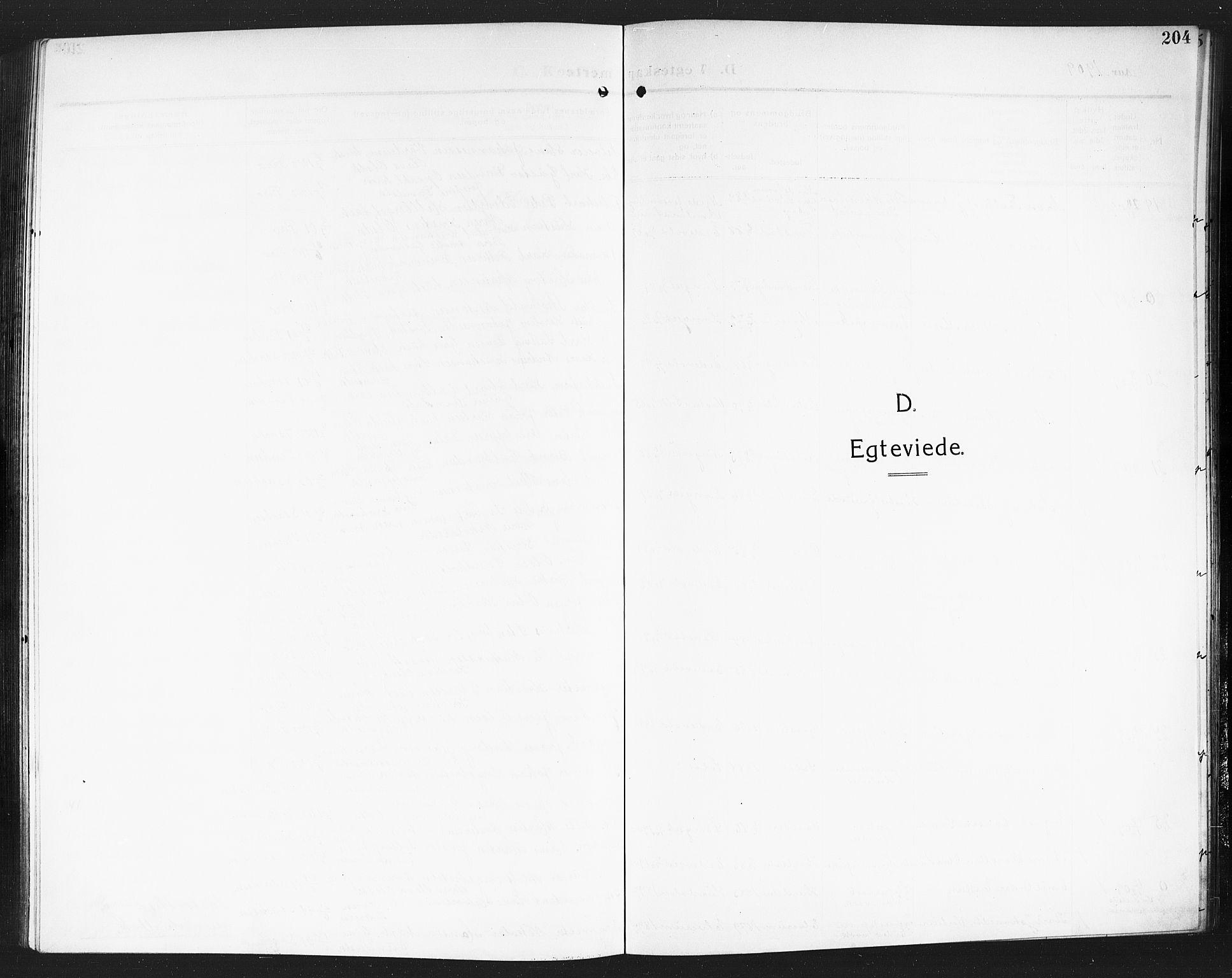 SAO, Eidsvoll prestekontor Kirkebøker, G/Ga/L0008: Klokkerbok nr. I 8, 1909-1918, s. 204