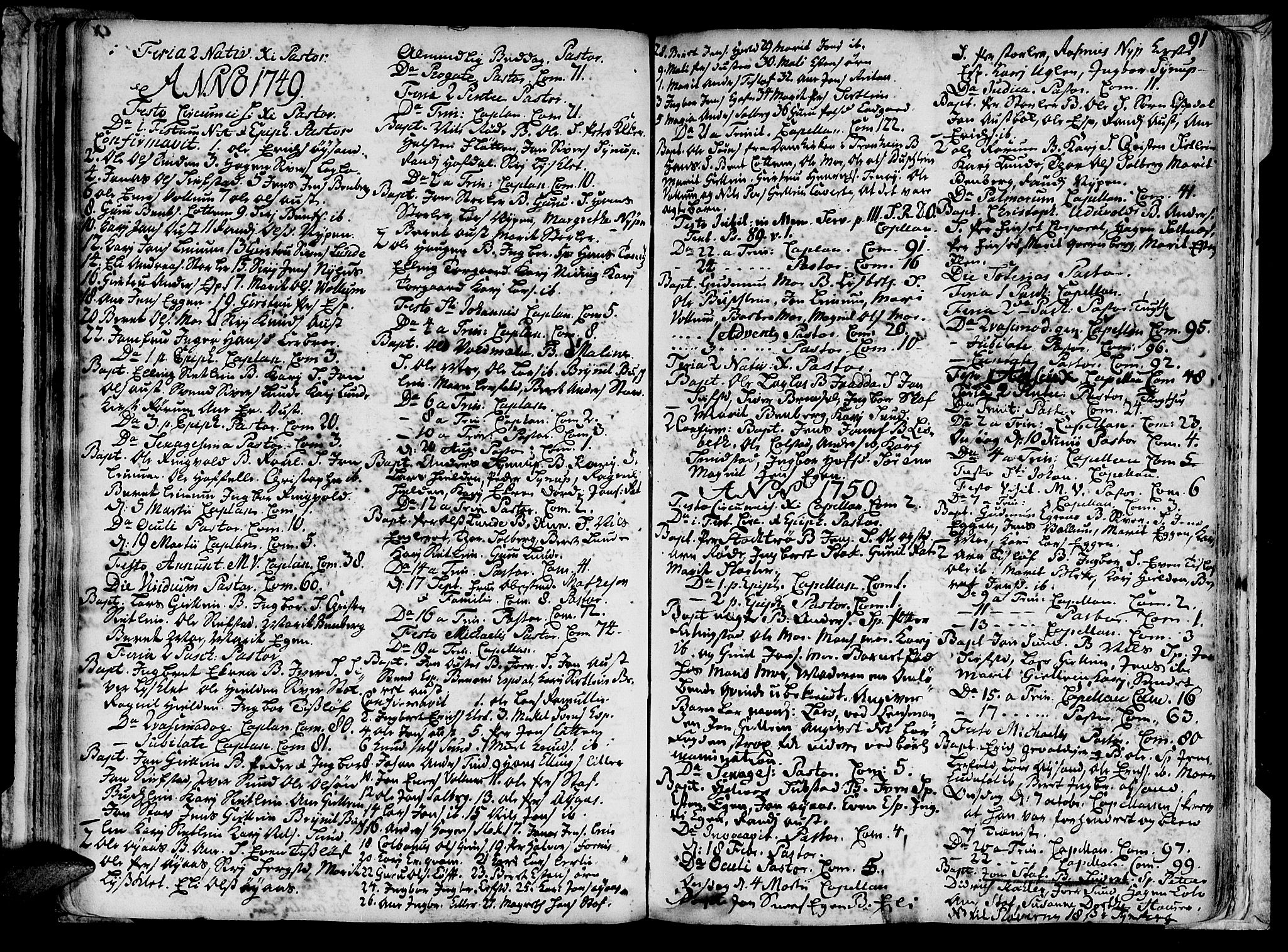 SAT, Ministerialprotokoller, klokkerbøker og fødselsregistre - Sør-Trøndelag, 691/L1059: Ministerialbok nr. 691A01 /3, 1740-1767, s. 91