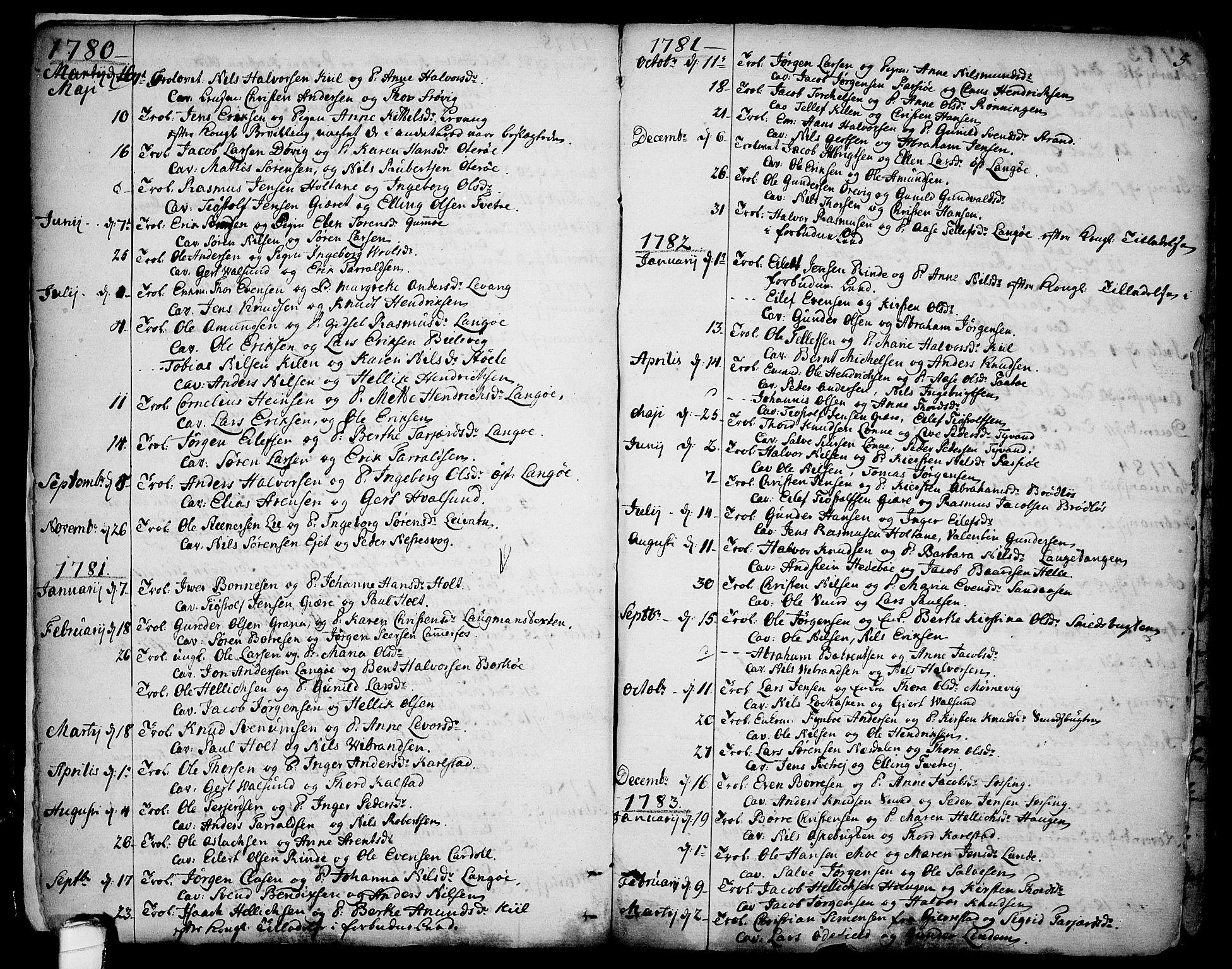 SAKO, Sannidal kirkebøker, F/Fa/L0002: Ministerialbok nr. 2, 1767-1802, s. 5