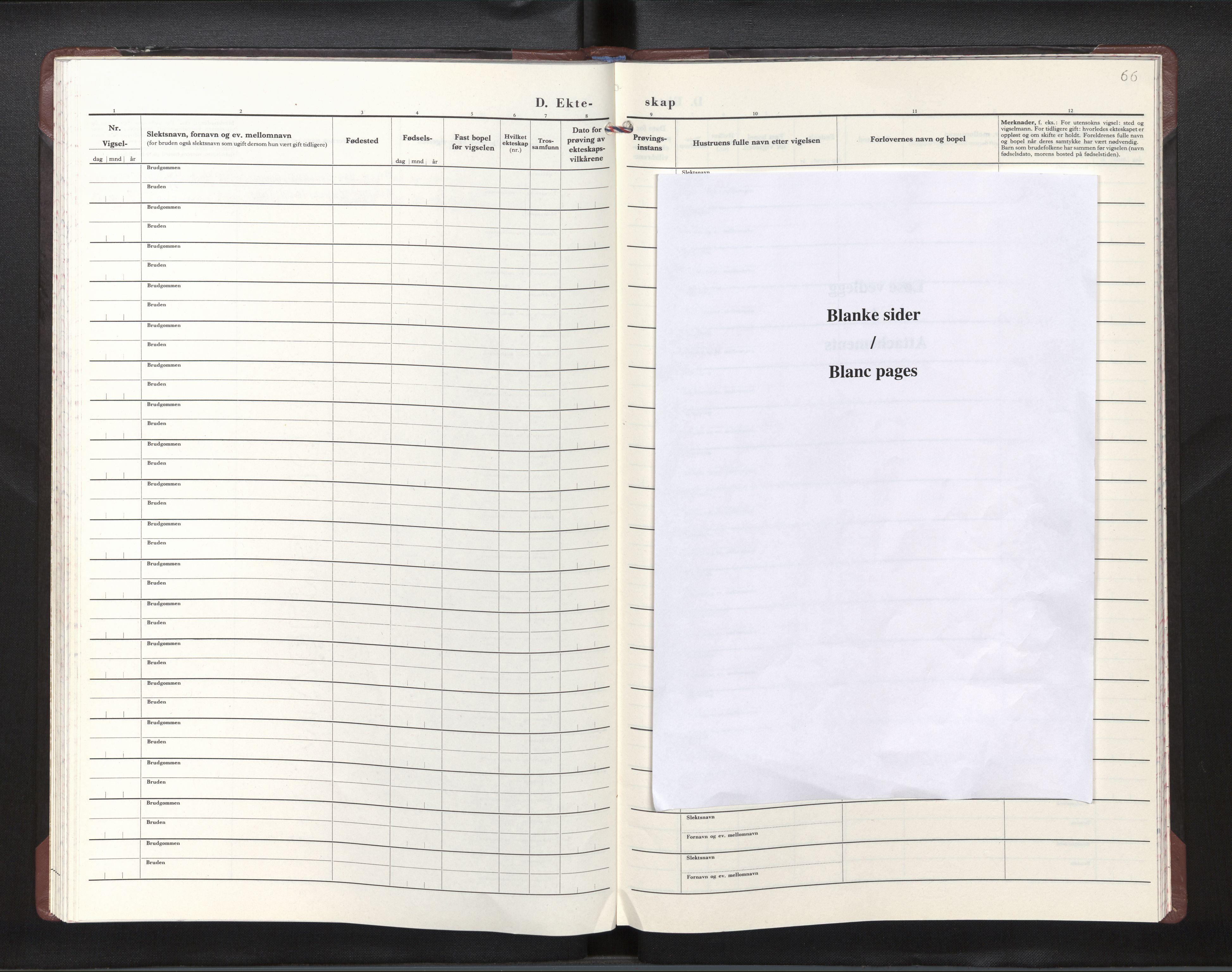 SAB, Den norske sjømannsmisjon i utlandet / Studentpresten for norske studenter i Europa, H/Ha/L0001: Ministerialbok nr. A 1, 1979-2009, s. 65b-66a