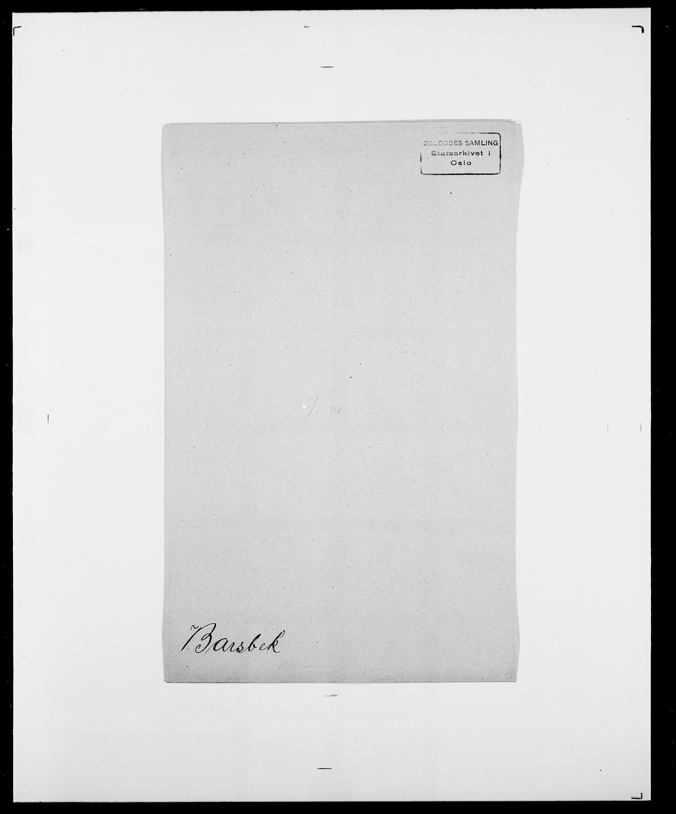 SAO, Delgobe, Charles Antoine - samling, D/Da/L0003: Barca - Bergen, s. 369