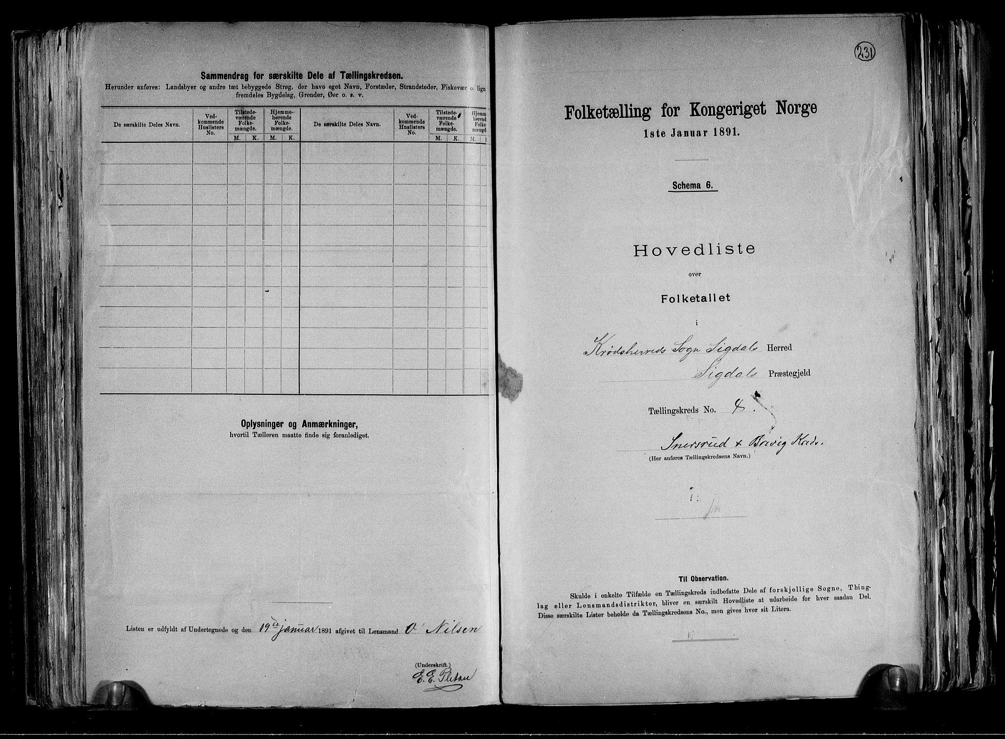 RA, Folketelling 1891 for 0621 Sigdal herred, 1891, s. 44