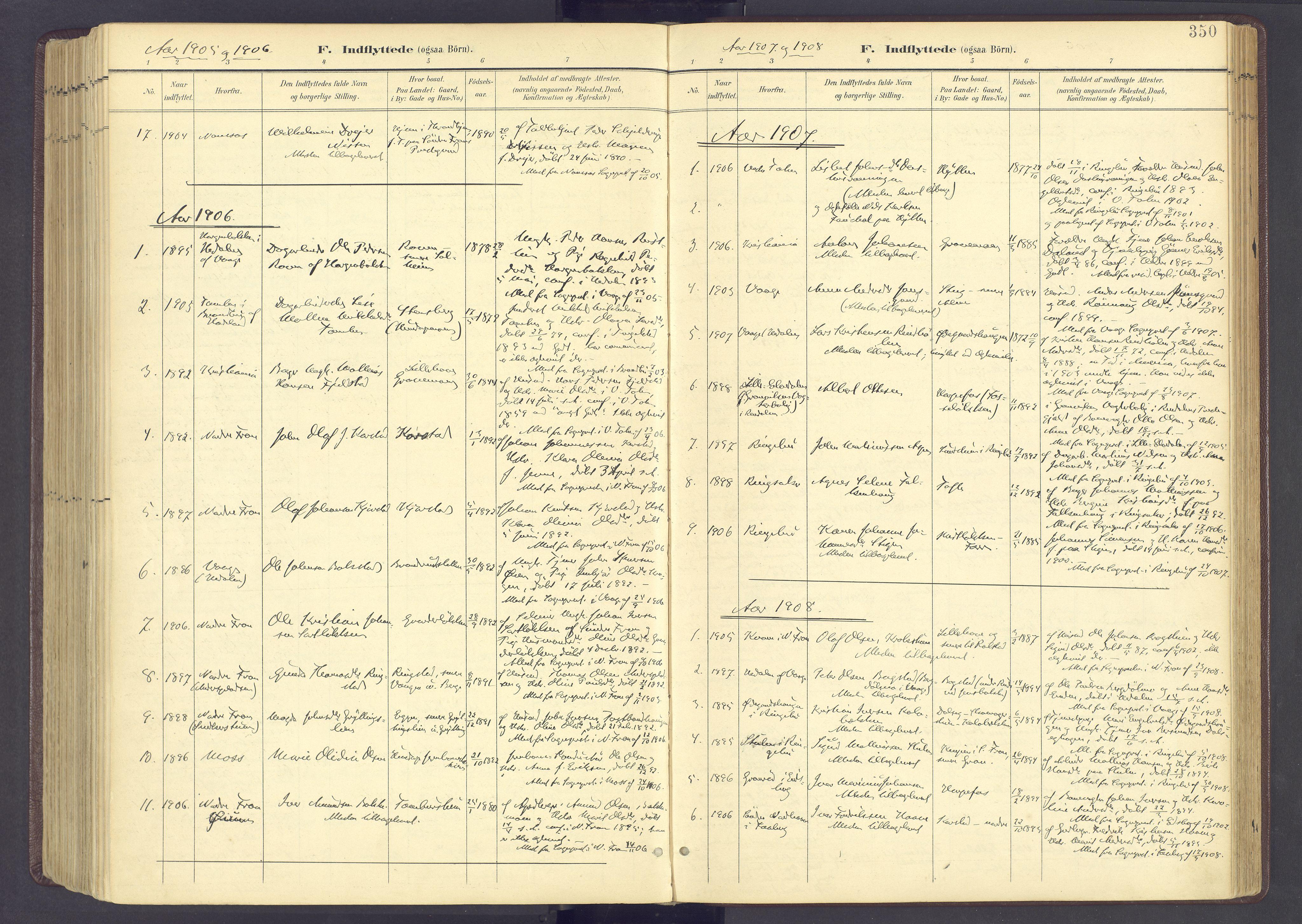 SAH, Sør-Fron prestekontor, H/Ha/Haa/L0004: Ministerialbok nr. 4, 1898-1919, s. 350