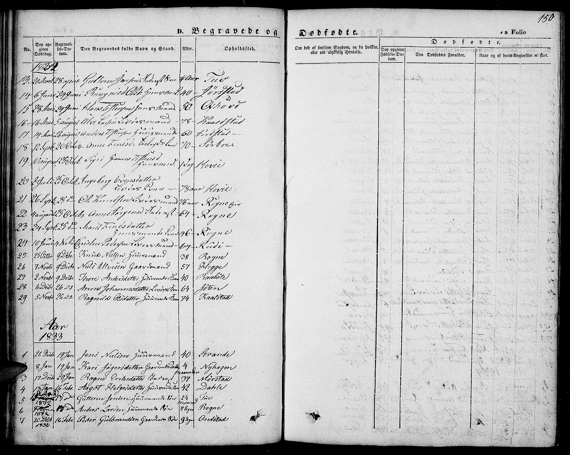 SAH, Slidre prestekontor, Ministerialbok nr. 4, 1831-1848, s. 150