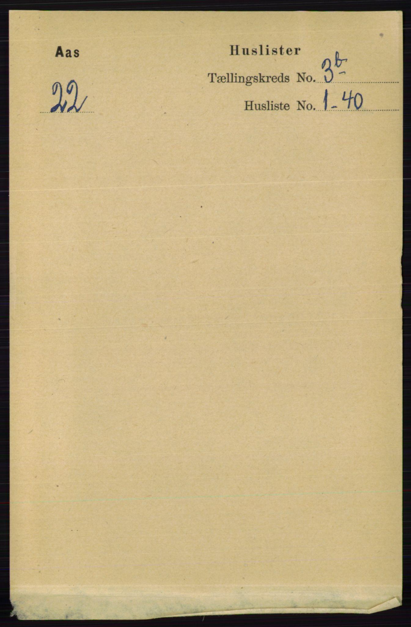 RA, Folketelling 1891 for 0214 Ås herred, 1891, s. 2684