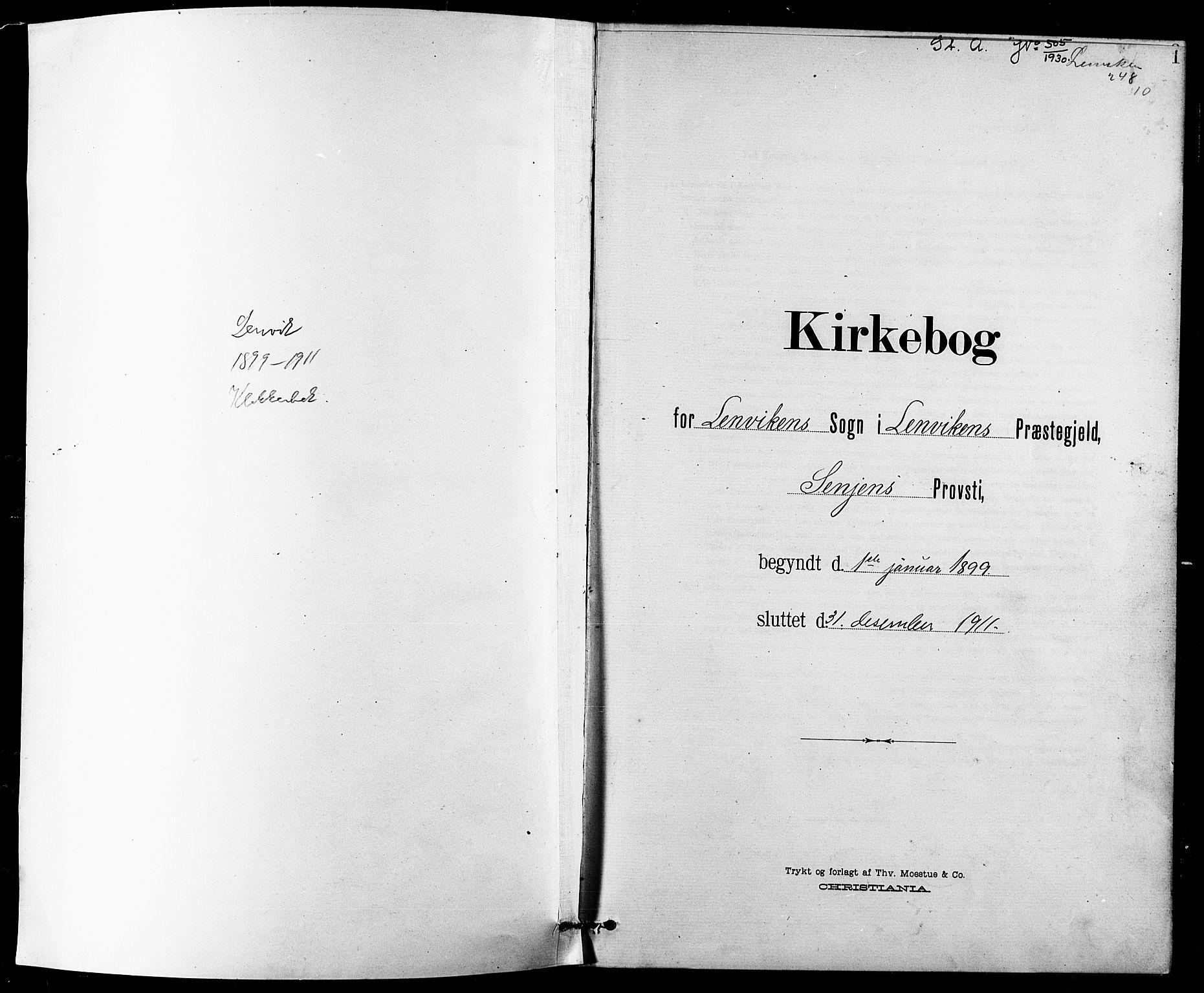 SATØ, Lenvik sokneprestembete, H/Ha: Klokkerbok nr. 8, 1899-1911, s. 1