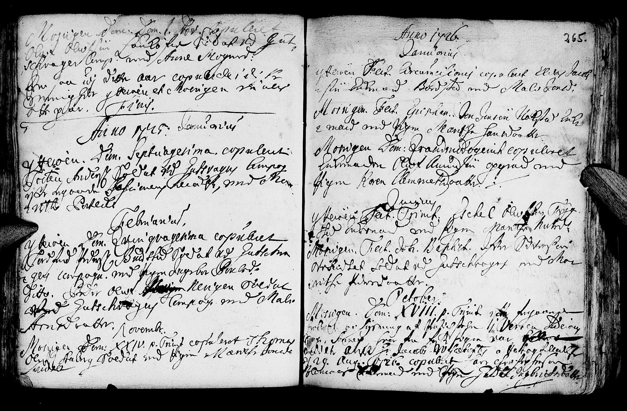 SAT, Ministerialprotokoller, klokkerbøker og fødselsregistre - Nord-Trøndelag, 722/L0215: Ministerialbok nr. 722A02, 1718-1755, s. 265