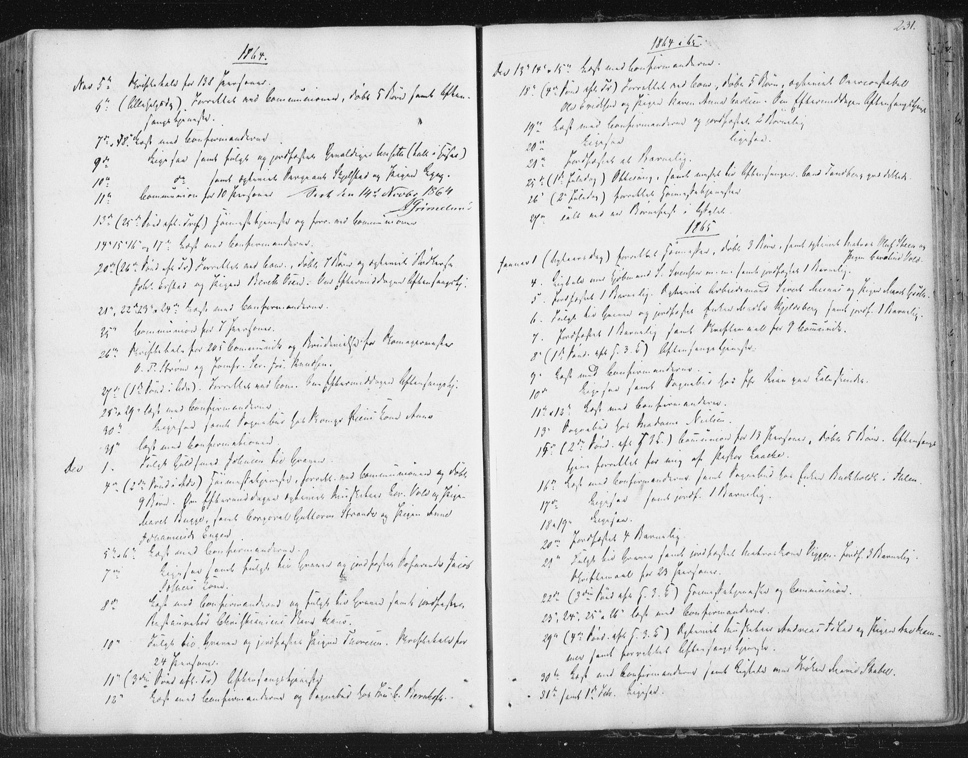 SAT, Ministerialprotokoller, klokkerbøker og fødselsregistre - Sør-Trøndelag, 602/L0127: Residerende kapellans bok nr. 602B01, 1821-1875, s. 231