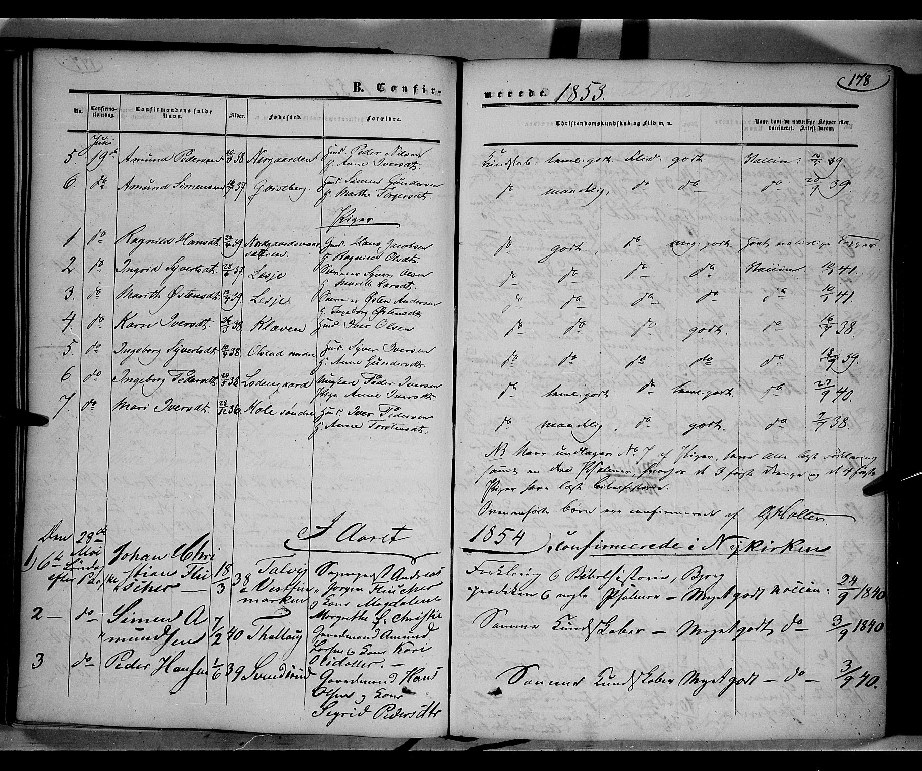 SAH, Gausdal prestekontor, Ministerialbok nr. 8, 1850-1861, s. 178